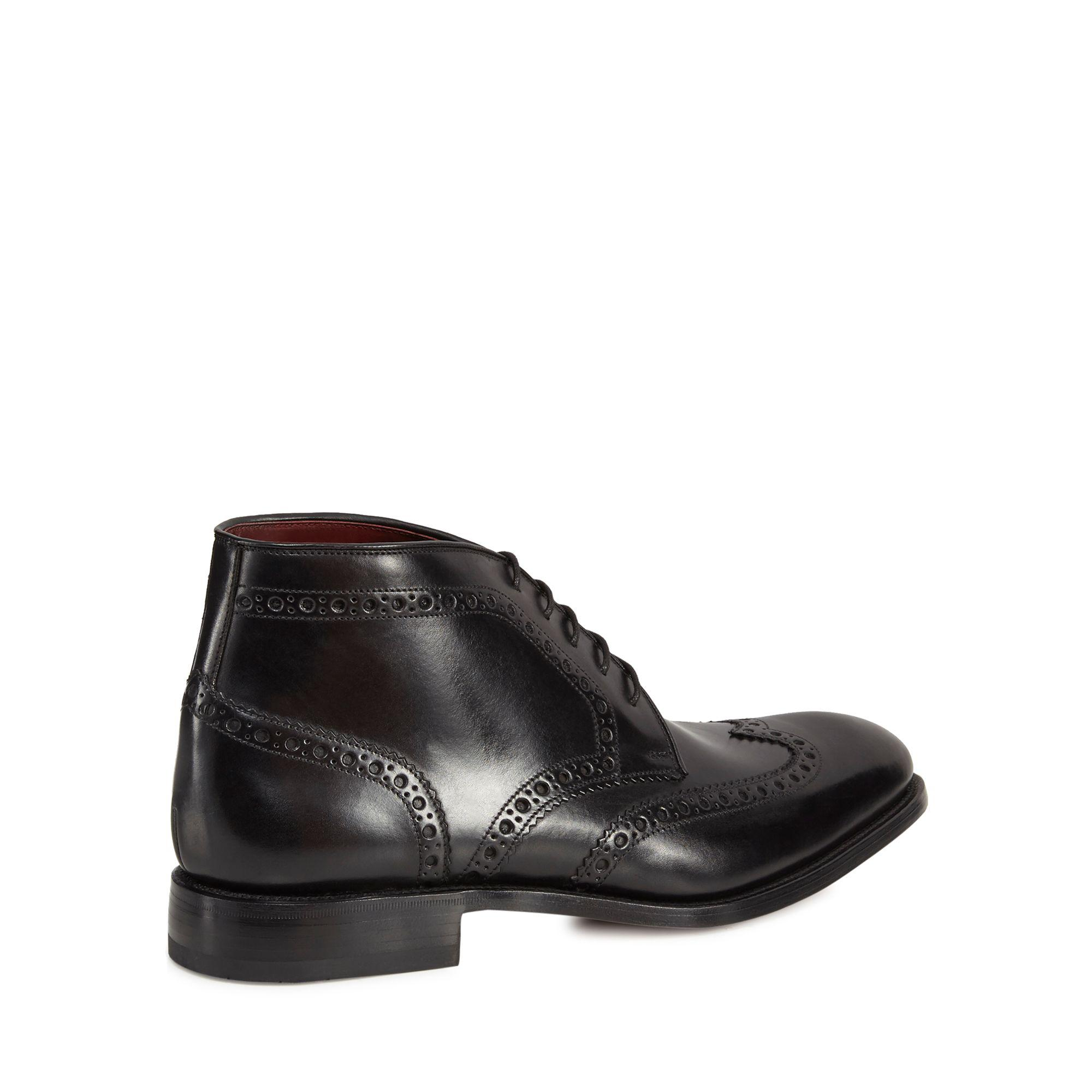 pay with visa sale online low shipping fee for sale Black leather 'Harrington' brogue boots 6XgPR
