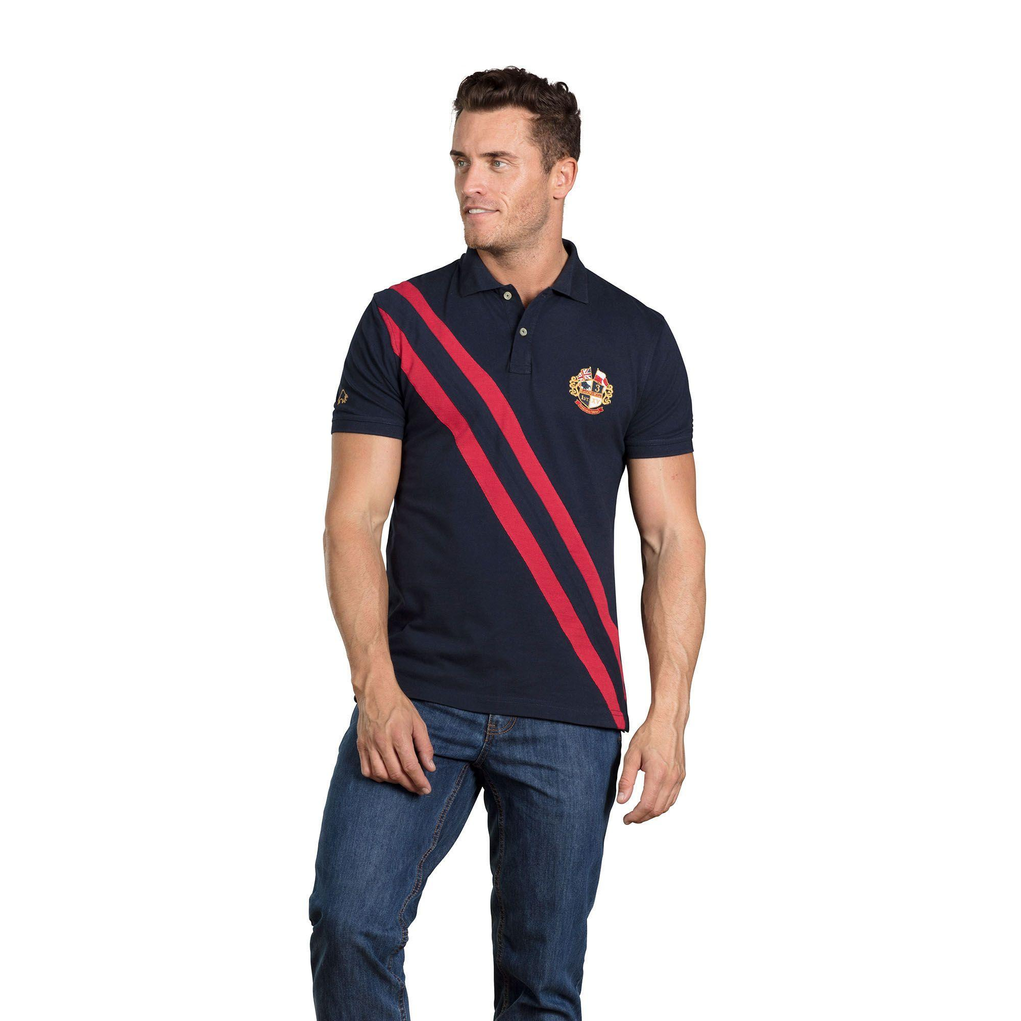 b5a1233a621 Raging Bull Navy Heritage Pique Polo Shirt in Blue for Men - Lyst