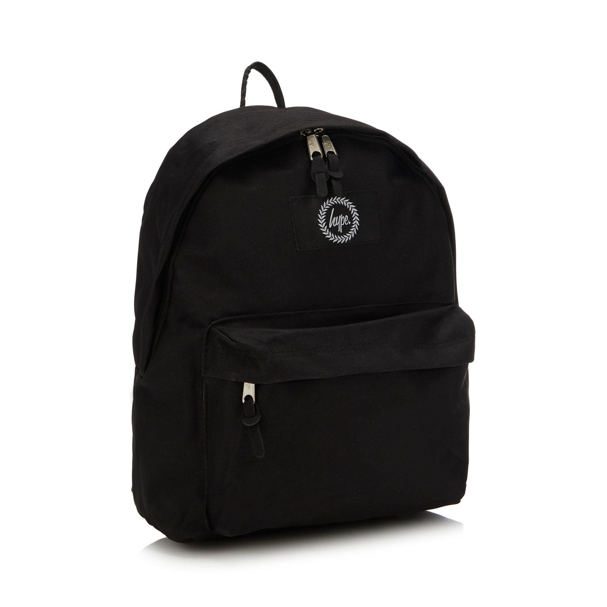 b73444096c41 Hype Black Embroidered Logo Backpack in Black for Men - Lyst