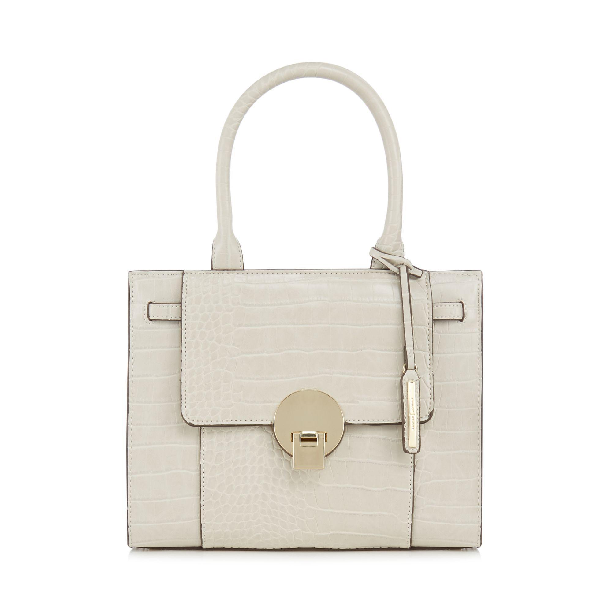 8c08647129de J By Jasper Conran Cream Croc Effect  knightsbridge  Small Grab Bag ...