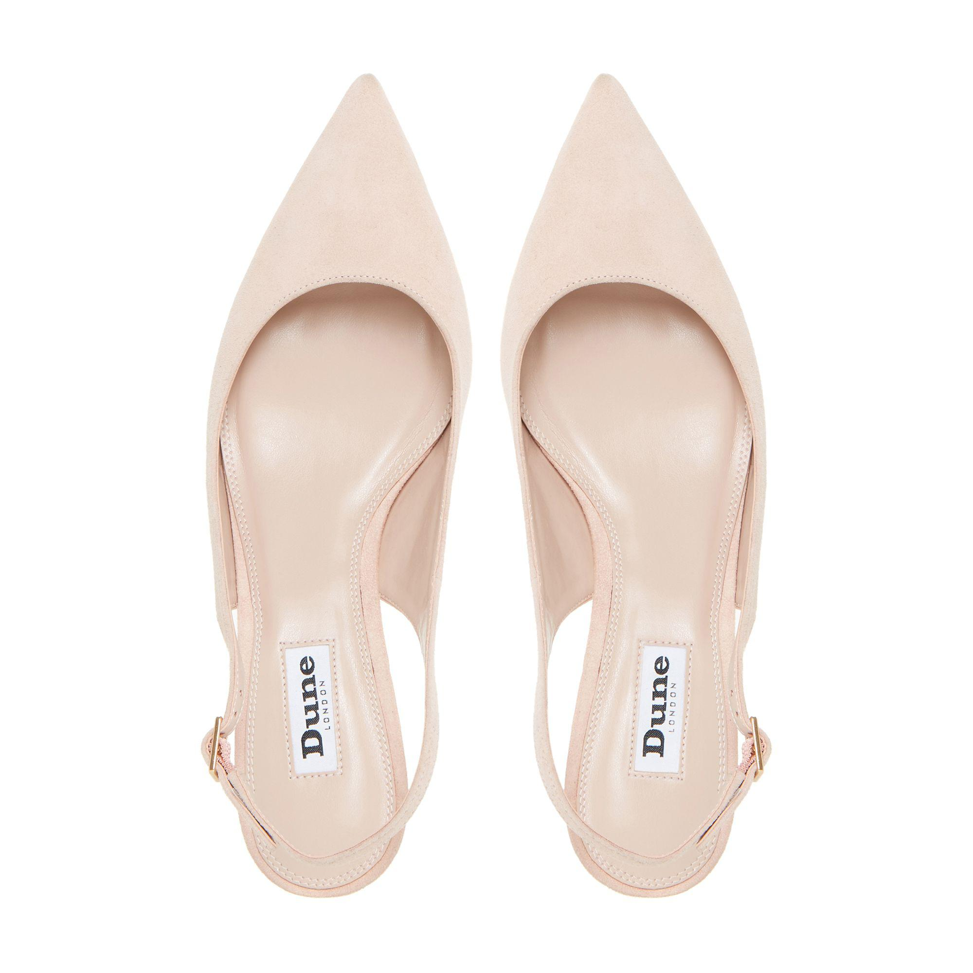 7263b1f3242 Dune - Pink Blush  casandra  Kitten Heel Slingback Court Shoes - Lyst. View  fullscreen