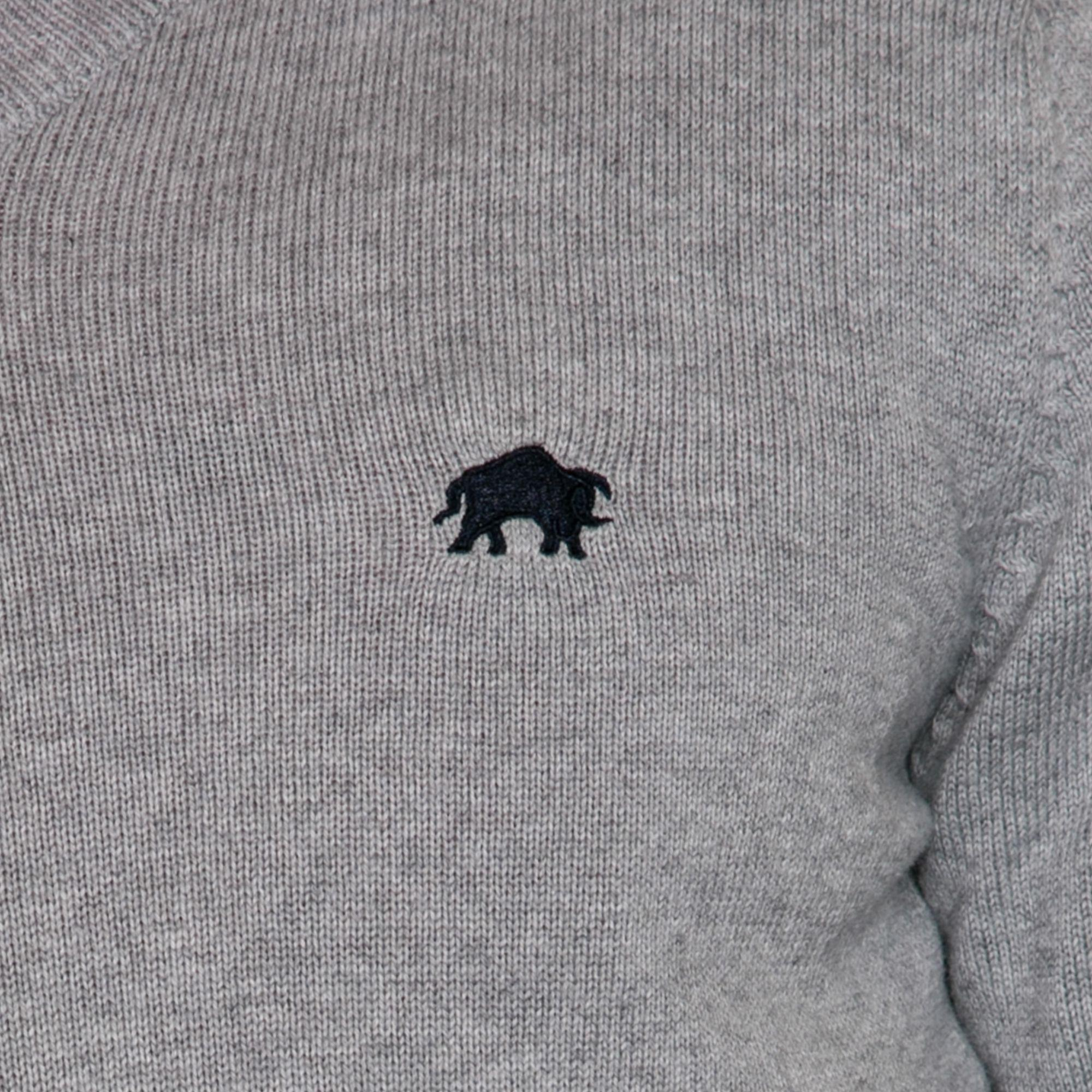 e8fcb7524f15ee Raging Bull Grey Cotton And Cashmere Blend Crew Neck Sweater in Gray ...