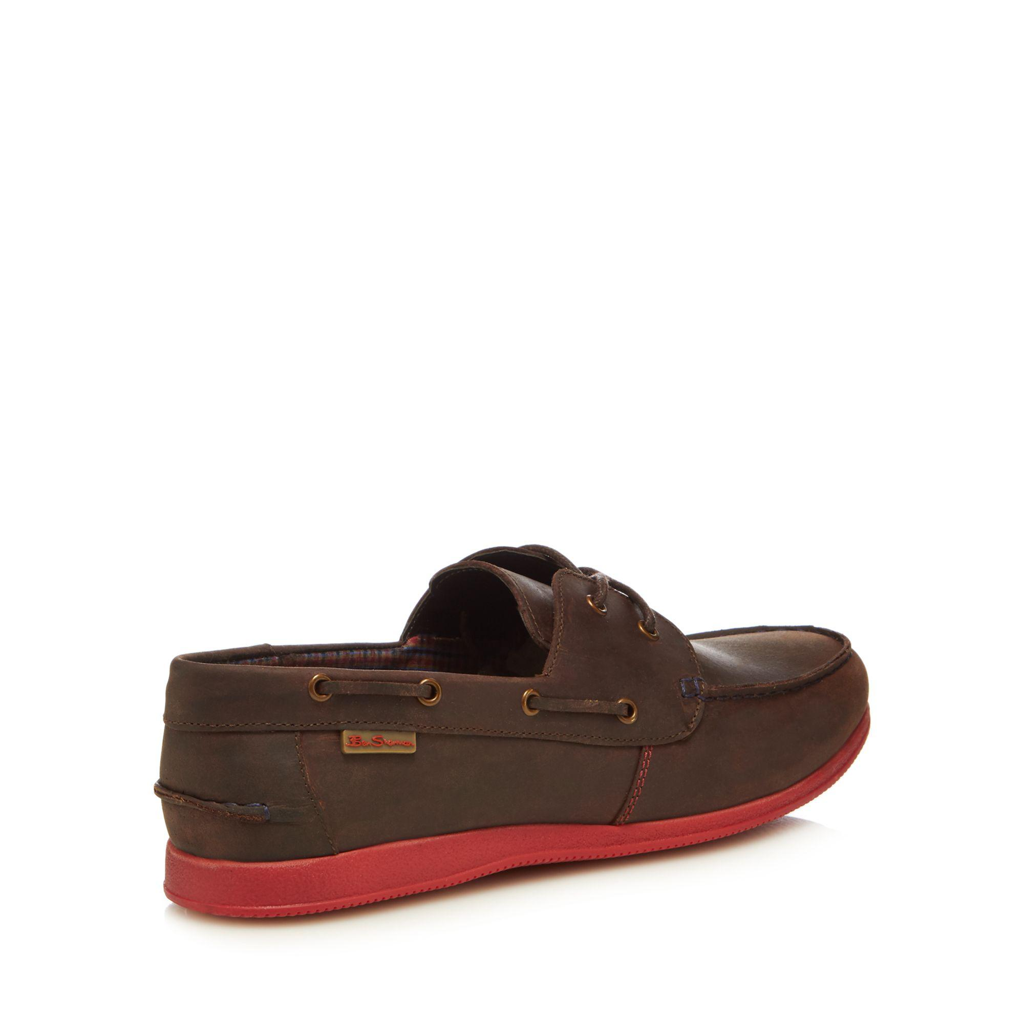 c45ed89431d9 Ben Sherman - Brown Nubuck  orlando  Boat Shoes for Men - Lyst. View  fullscreen