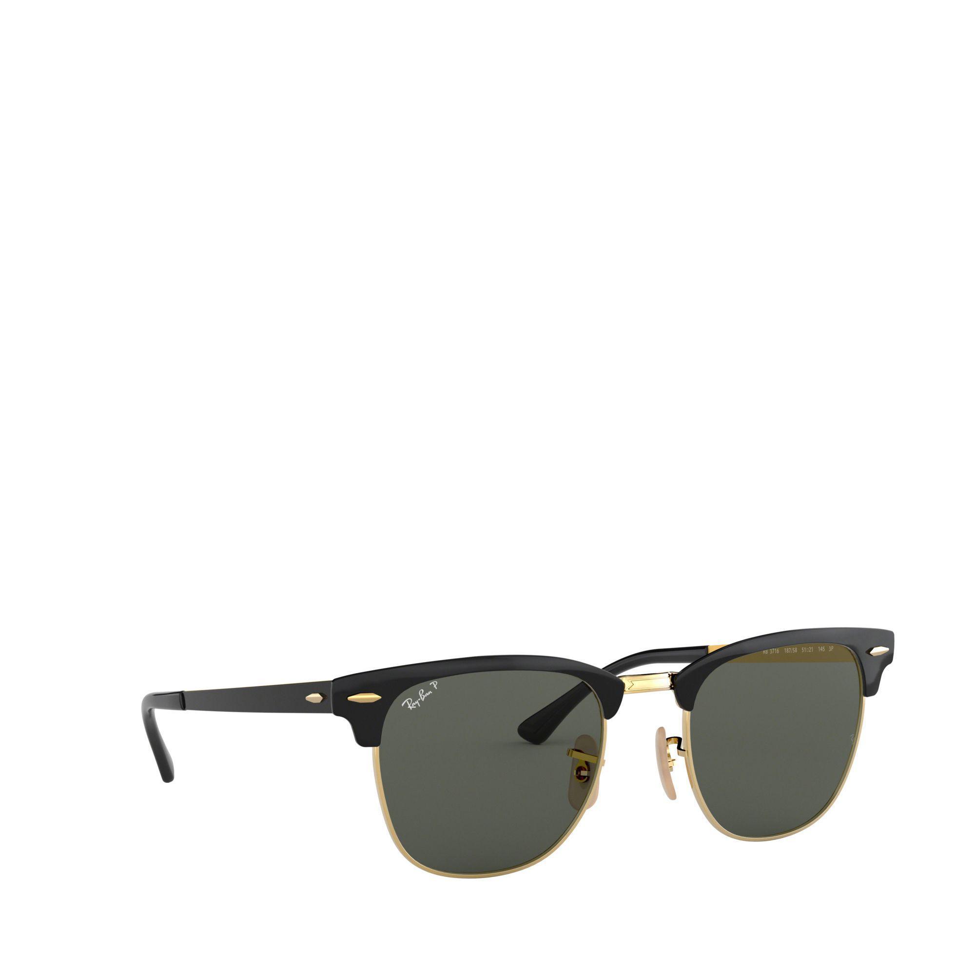 5e041358040e Ray-Ban Black 0rb3716 Square Sunglasses in Black for Men - Lyst