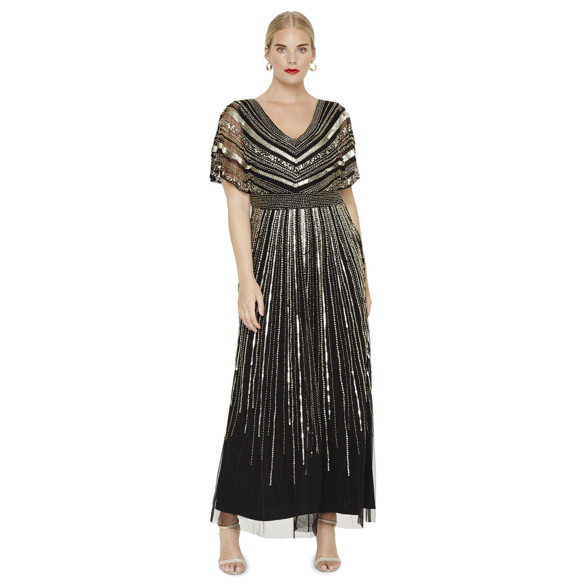 34eee66223e Studio 8 Avalon Beaded Maxi Dress in Black - Lyst