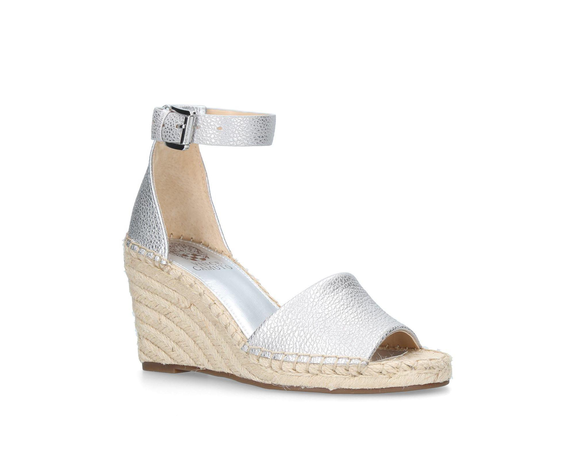 1ab7bdb18ed4 Vince Camuto Silver  leera  High Wedge Sandals in Metallic - Lyst