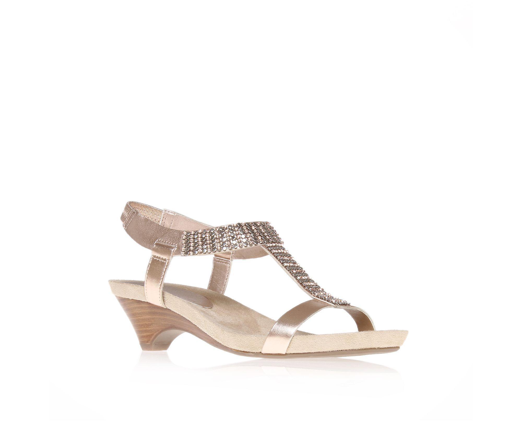 aca9ce829af Anne Klein Teale3 Mid Heel Gladiator Sandals in Pink - Lyst