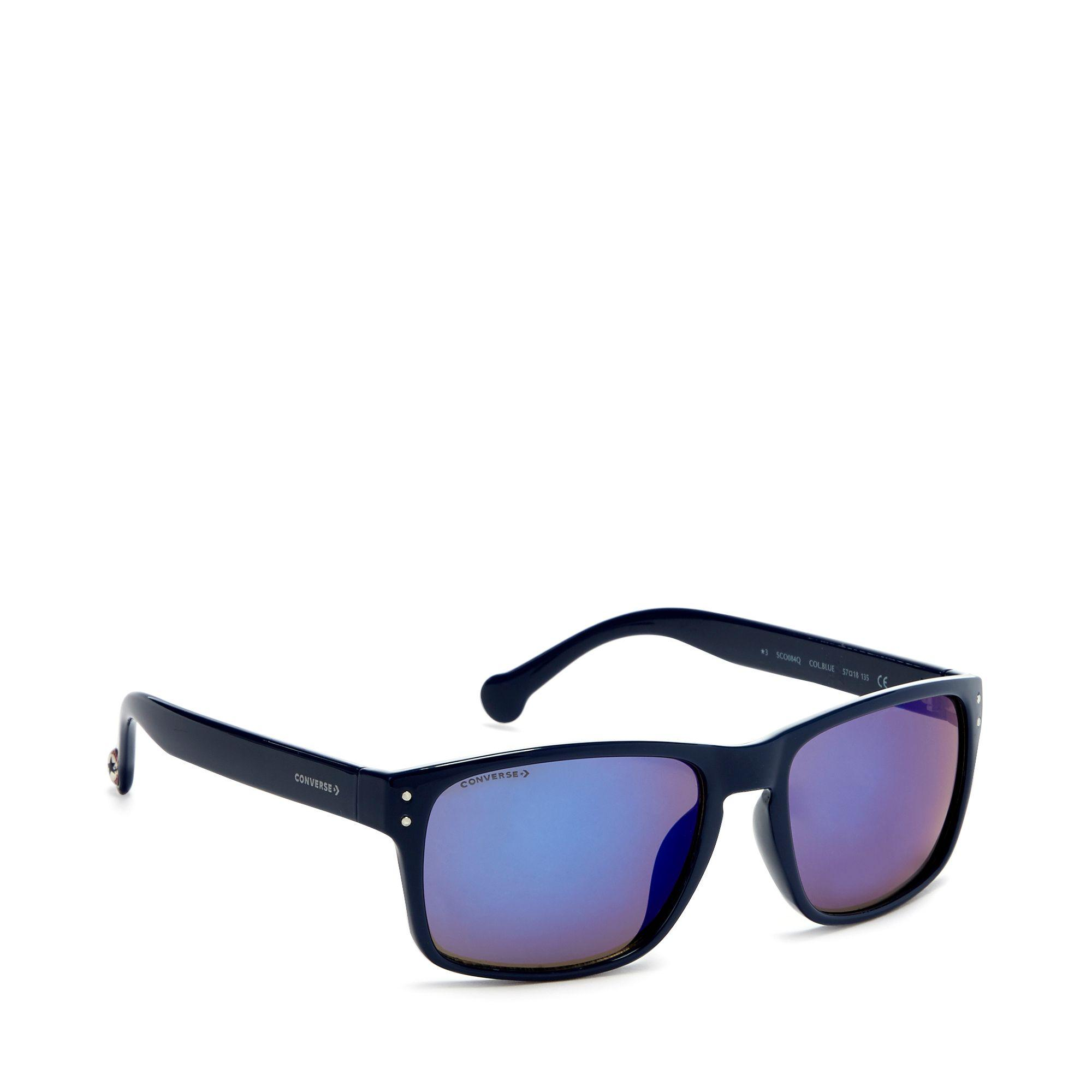 9bb7a10428139 Converse Navy Plastic Square Sunglasses in Blue for Men - Lyst