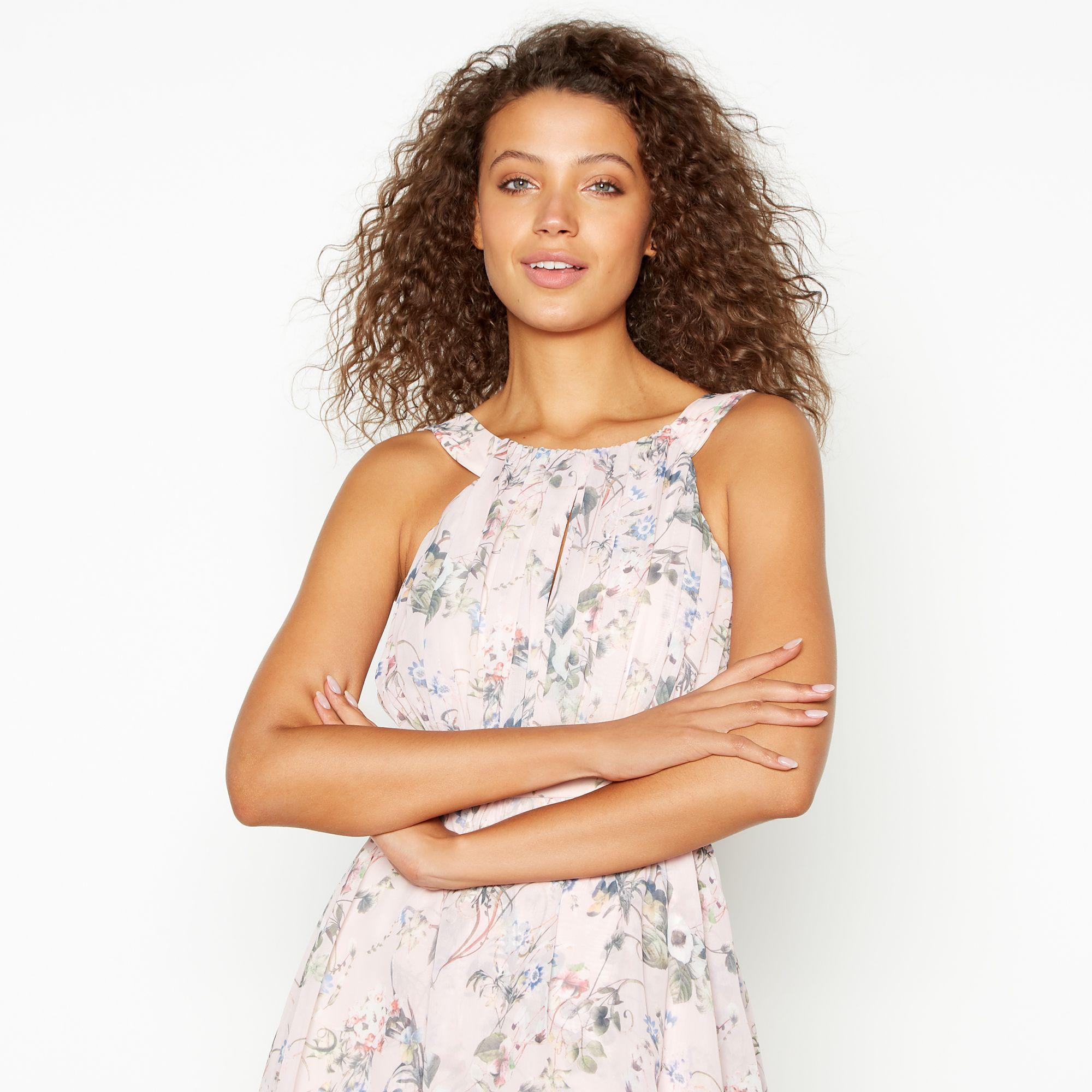 0e0d22bdc2ce Vila - Multicolor Multicoloured Floral Chiffon 'vinola' Tiered Maxi Dress -  Lyst. View fullscreen