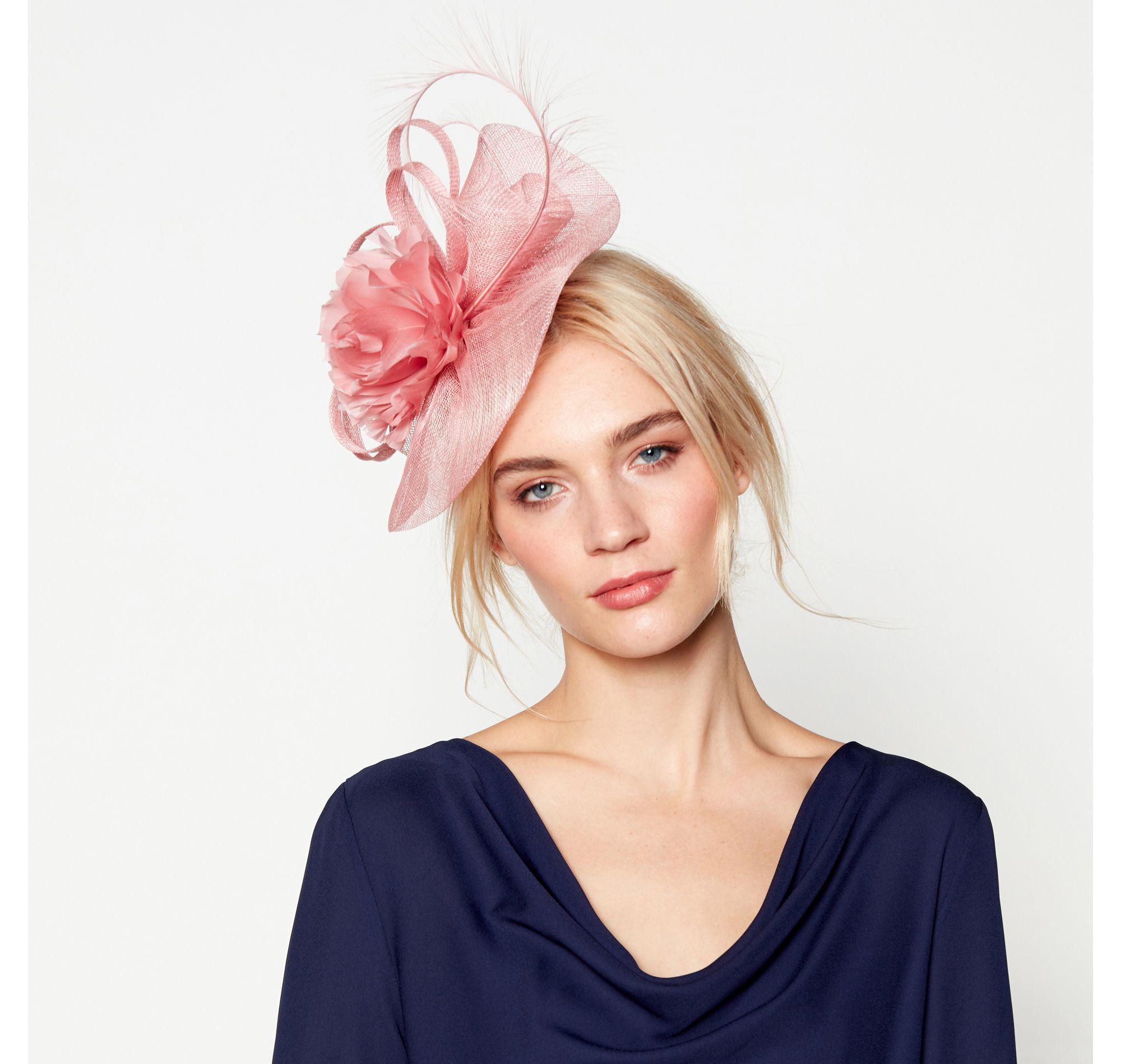 J By Jasper Conran Pink  camelia  Wave Fascinator Headband in Pink ... 87d47df4f0d