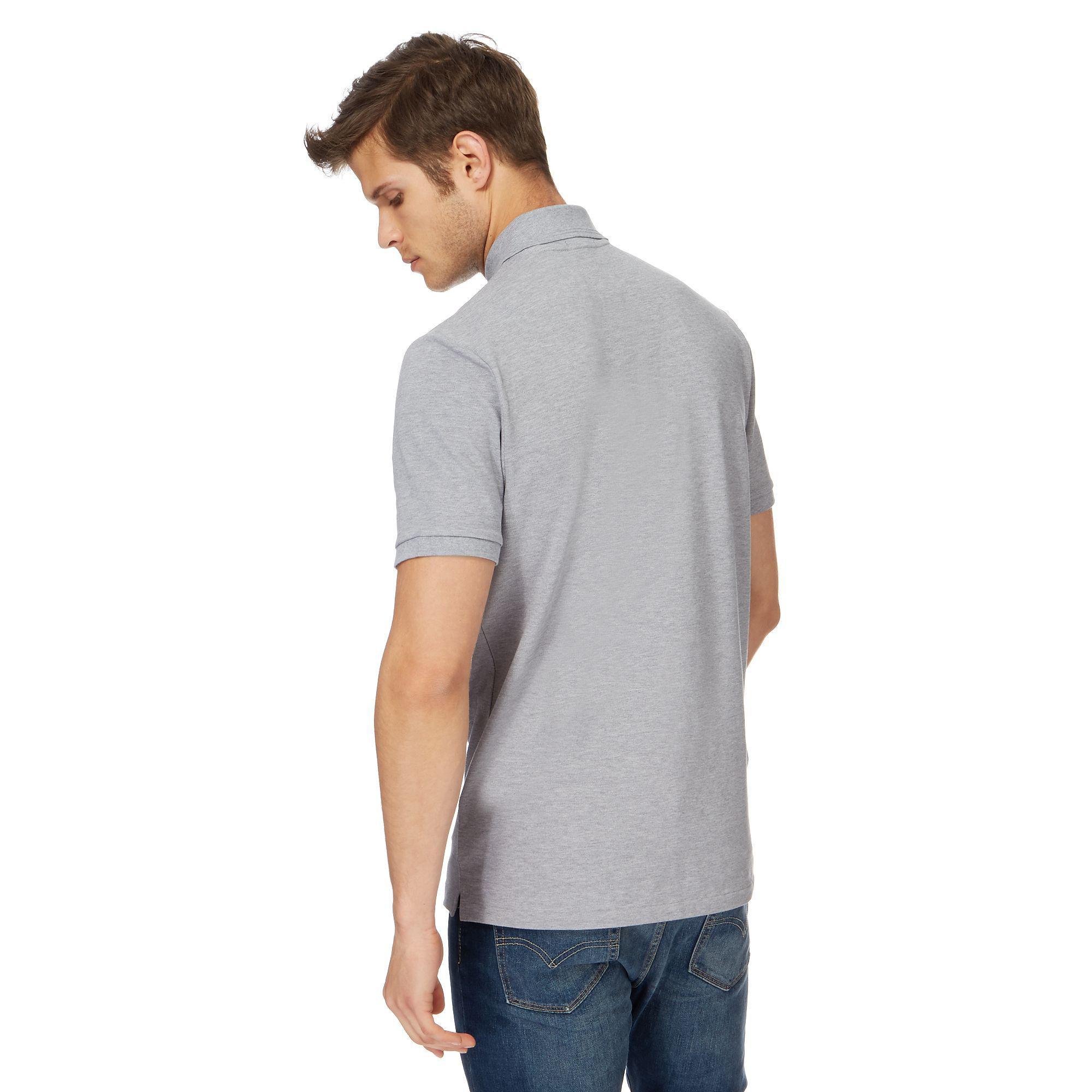 678de809206 G-Star RAW - Gray Grey Embroidered Logo Slim Fit Polo Shirt for Men -. View  fullscreen