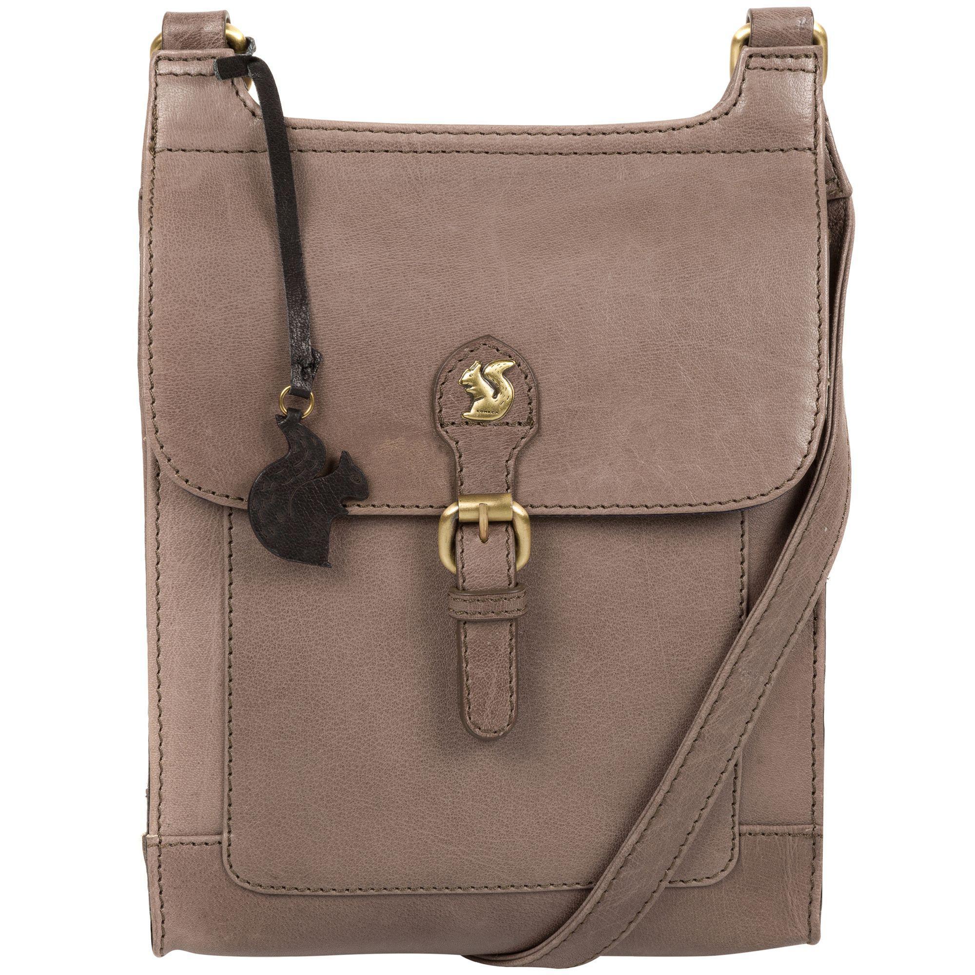 58e68d0e7041 Conkca London Dark Grey  sasha  Handmade Leather Cross-body Bag in ...