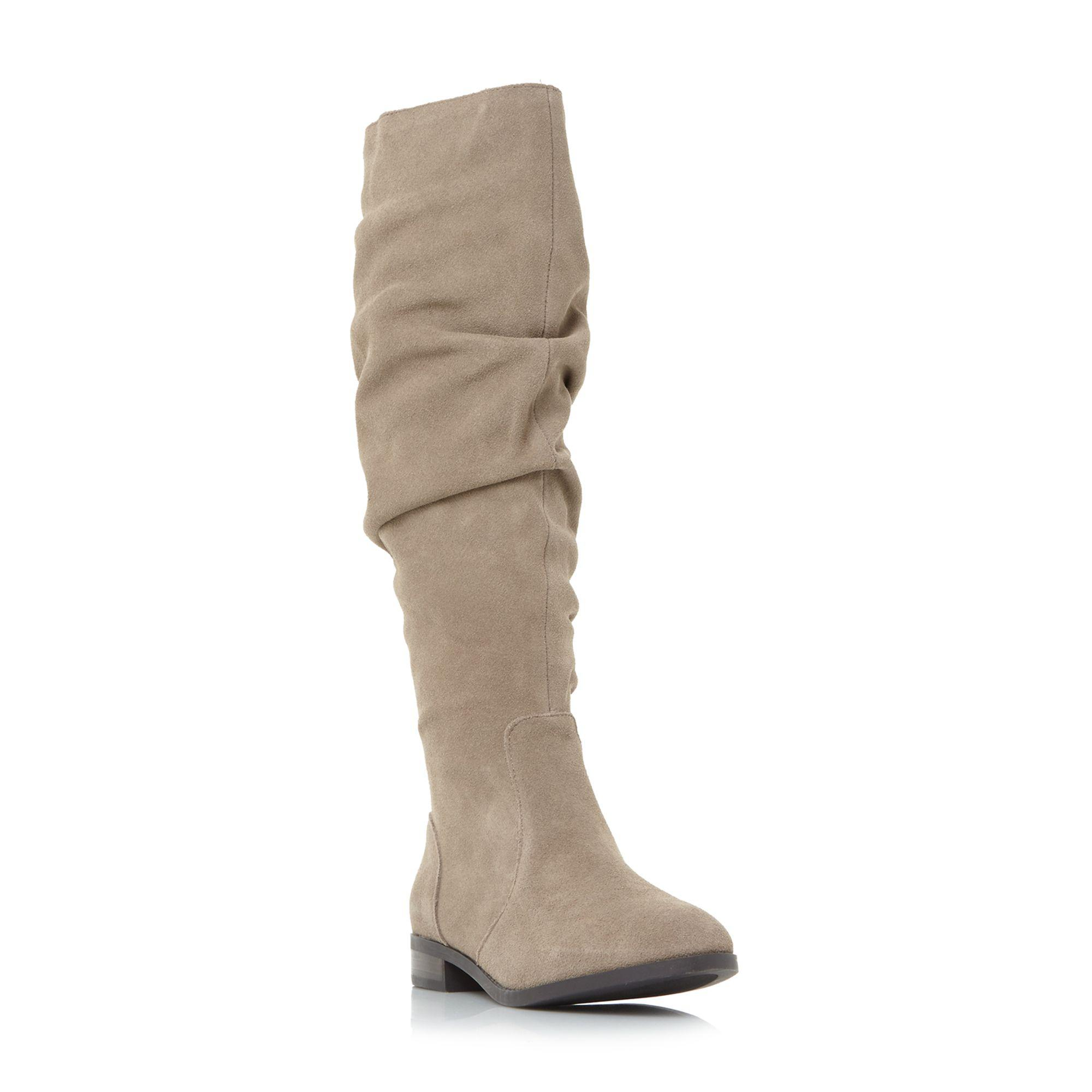 6c2972de4f7 Steve Madden Taupe Suede  beacon  Knee High Boots in Brown - Lyst