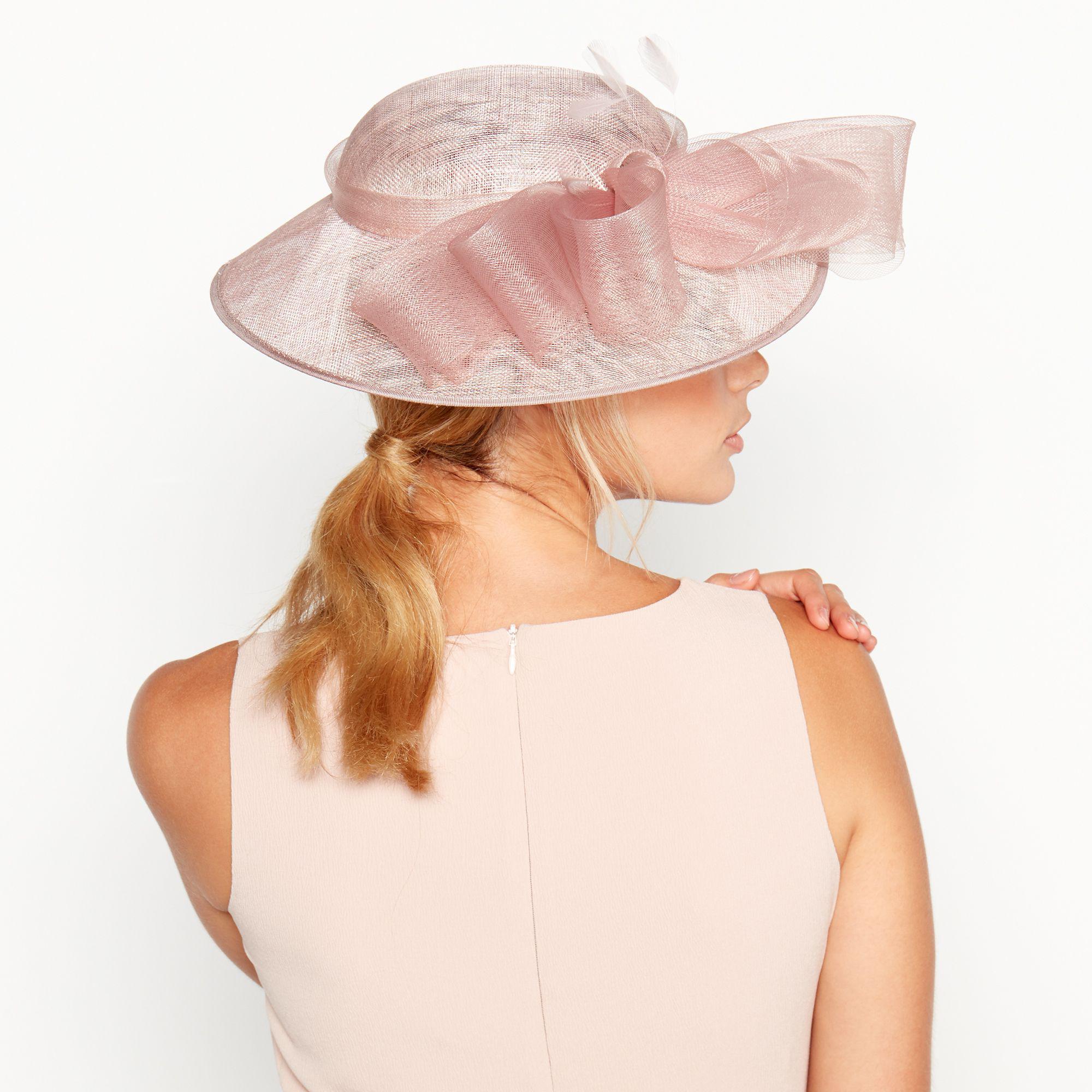 Début - Pink Crin Trim Bow Saucer Hat - Lyst. View fullscreen d832ddd35050