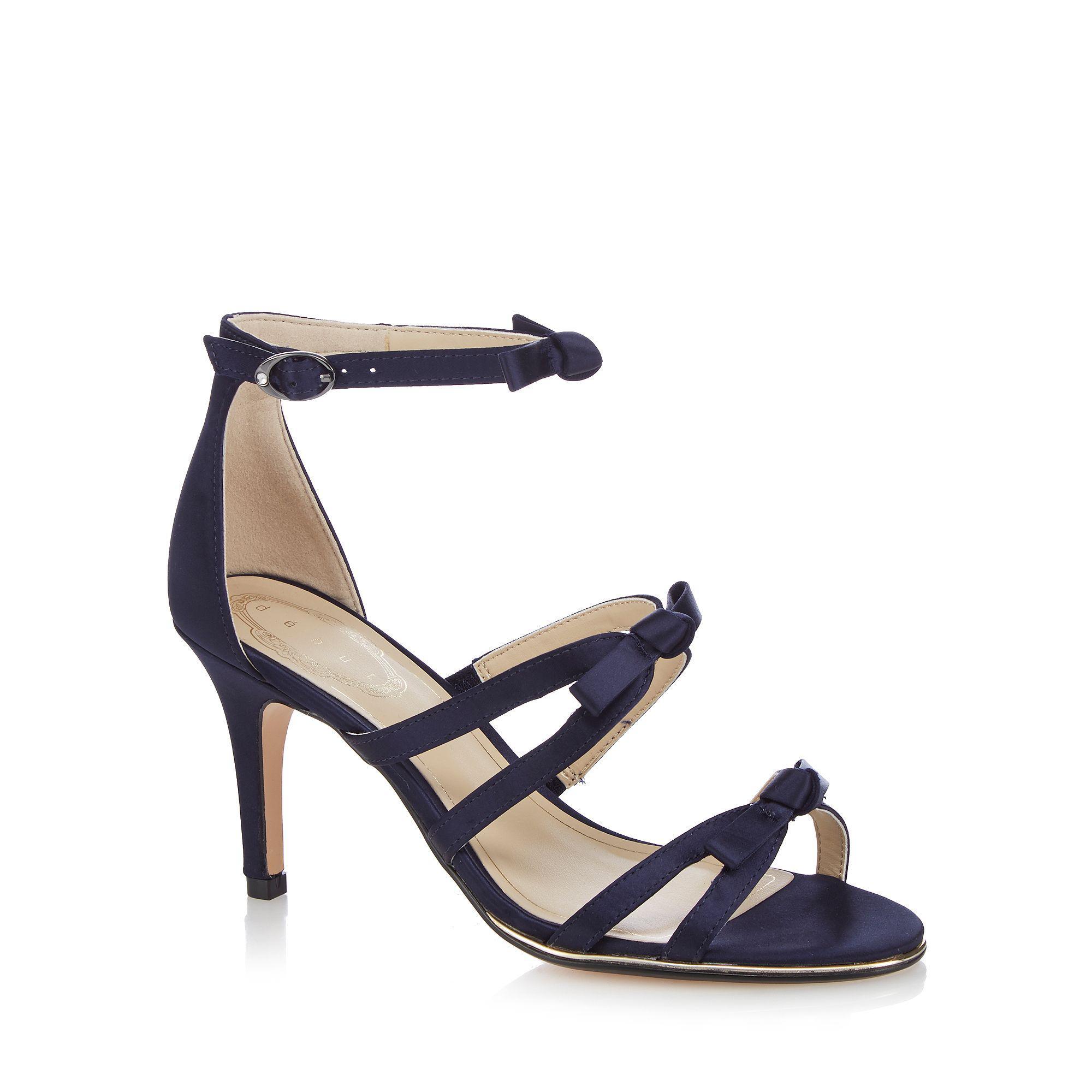 d297933d769 Début Navy  drew  High Stiletto Heel Ankle Strap Sandals in Blue - Lyst
