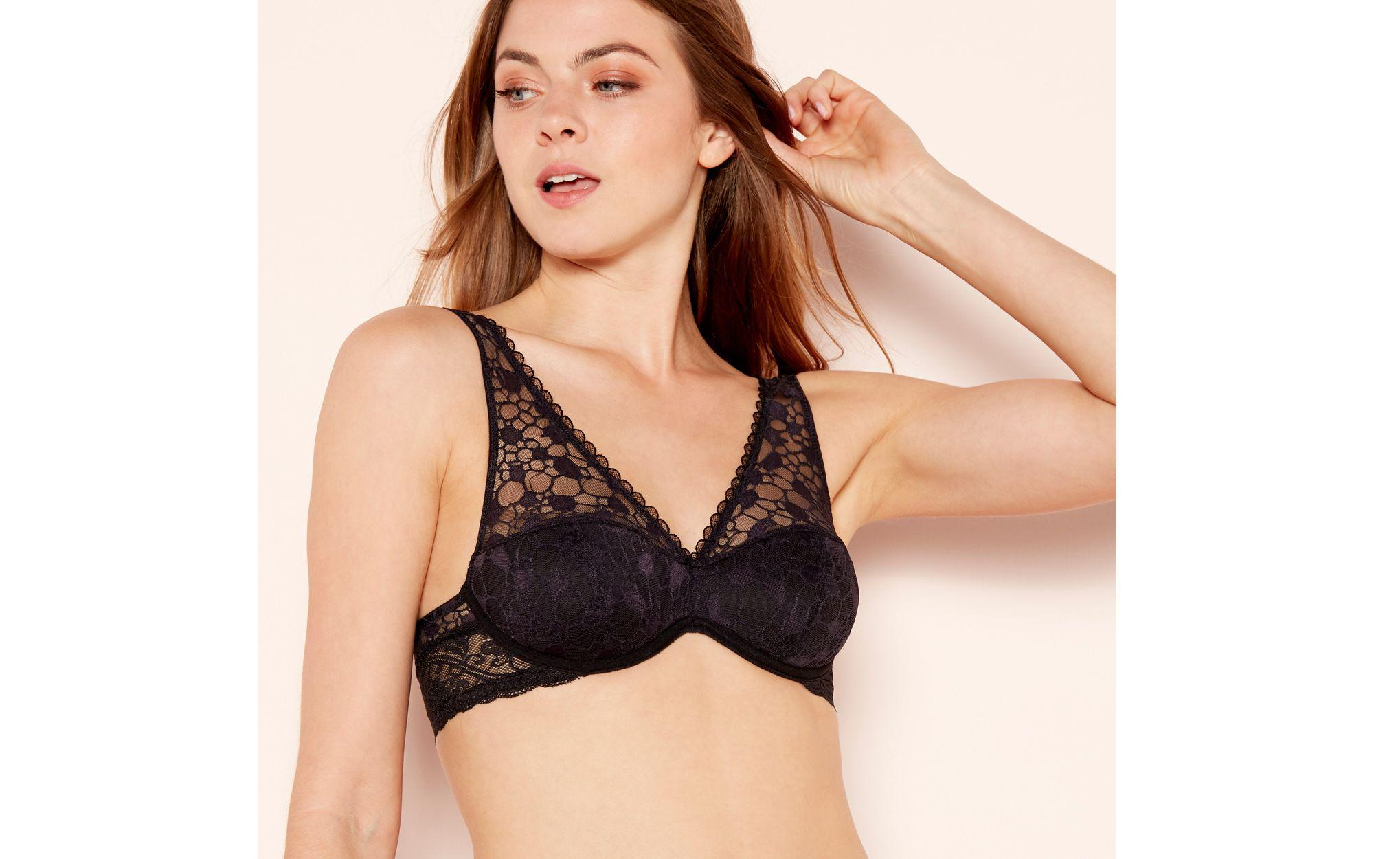 03b9b02a1e7 Wonderbra Black Lace  sexy  Underwired Padded Bralette in Black - Lyst