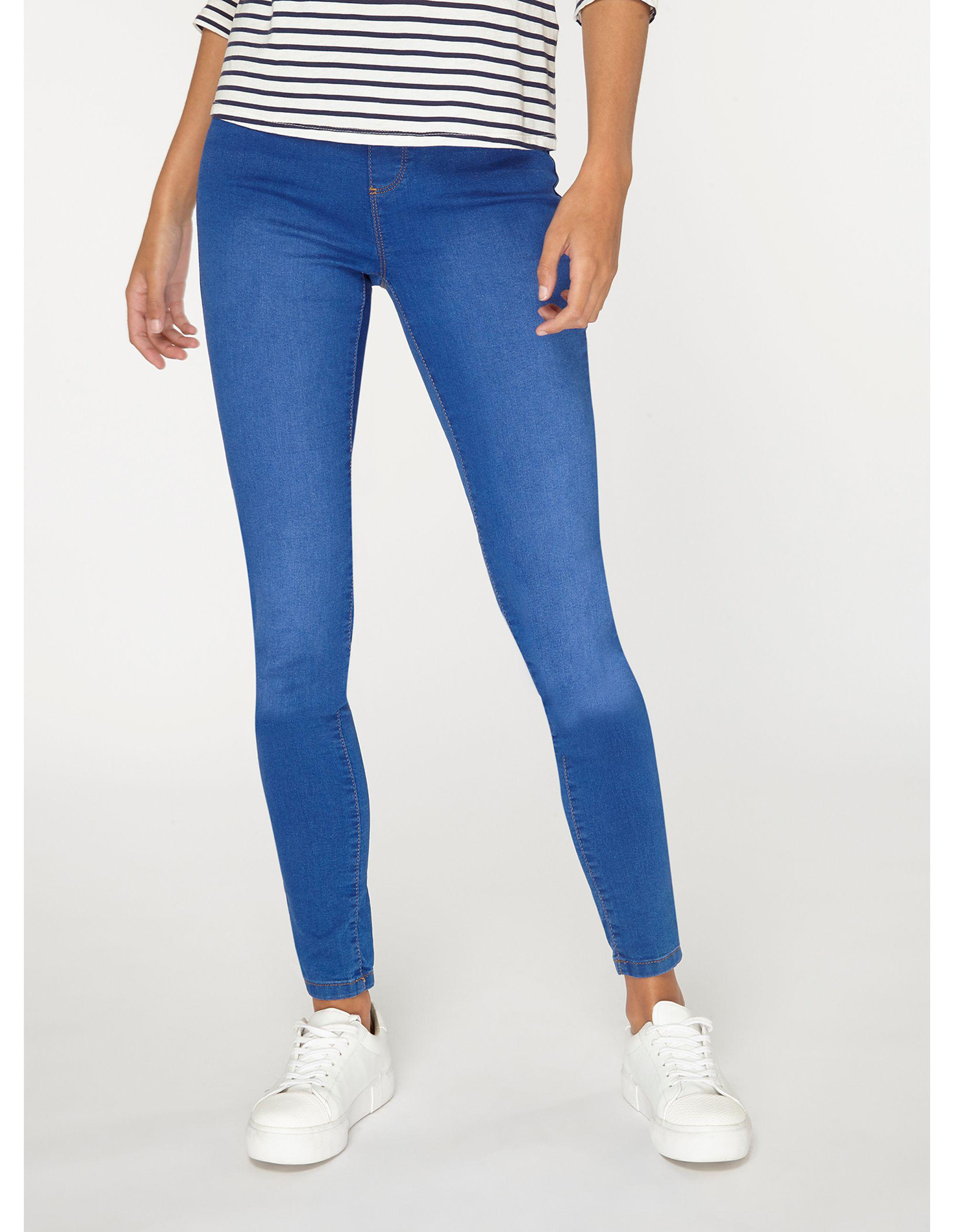 2170108d9097d Dorothy Perkins Tall Bright Blue Eden Jeggings in Blue - Lyst