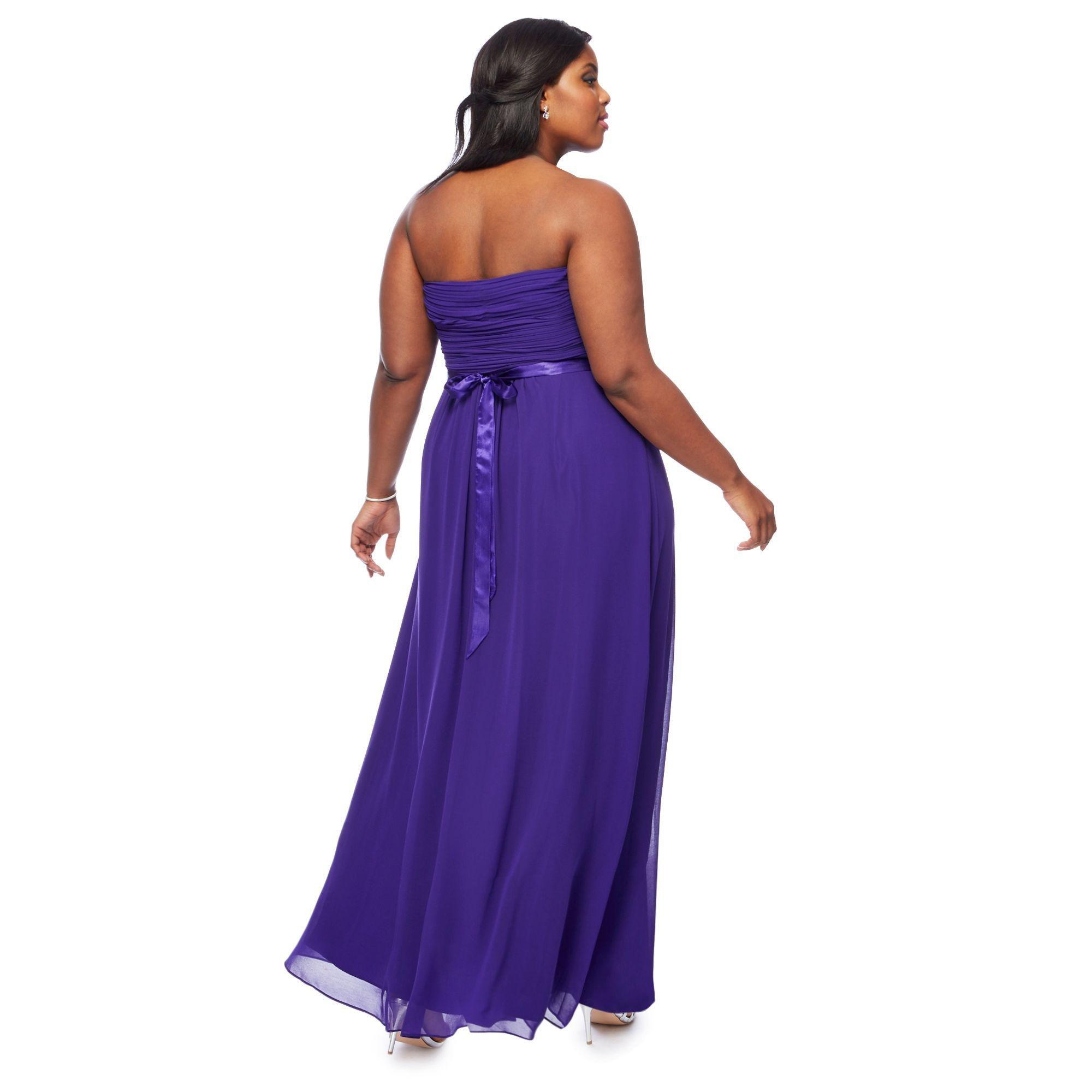 Lyst - Début Purple \'sophia\' Bandeau Plus Size Bridesmaid Dress in ...