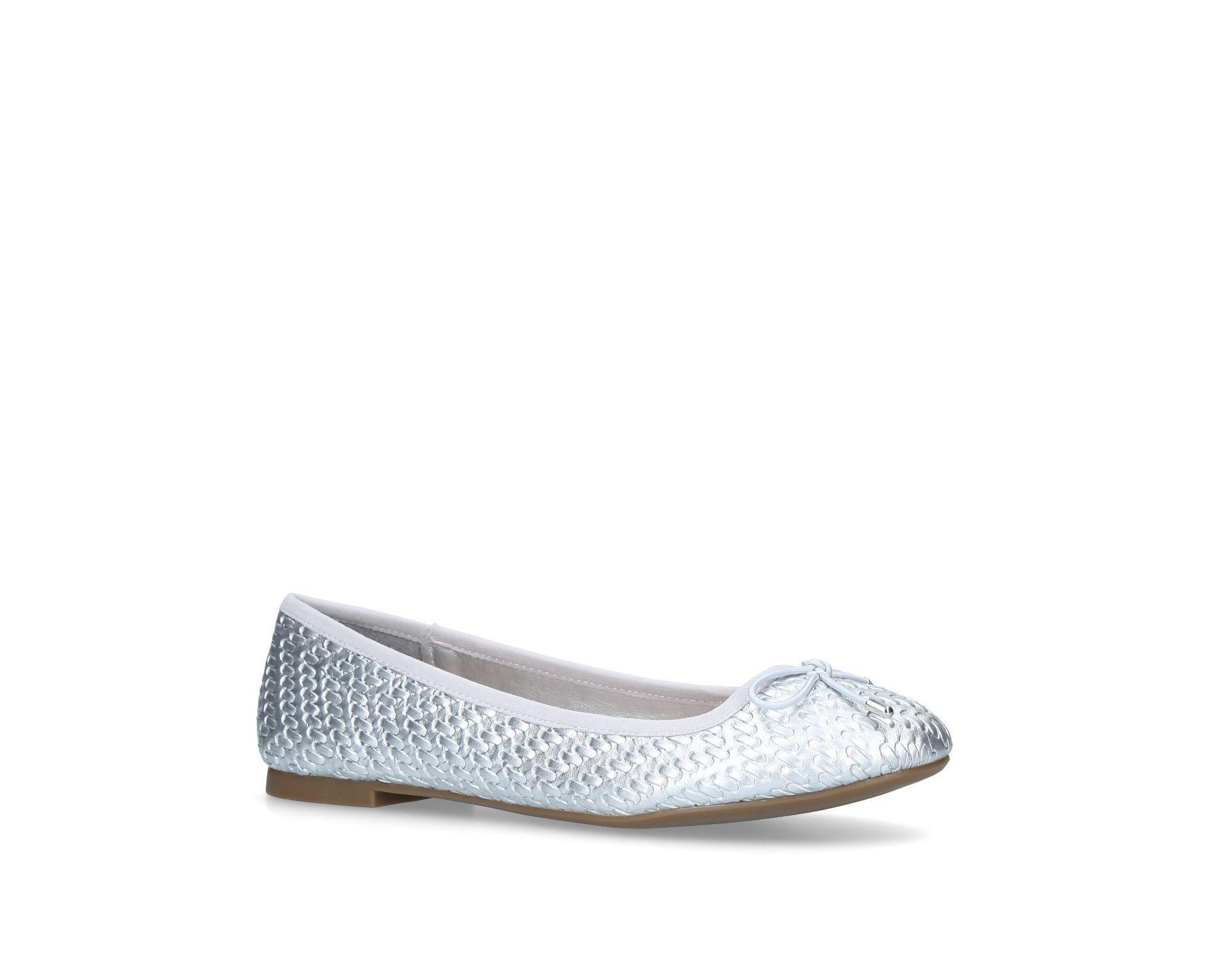 db55e1255 Miss Kg Silver  nellie  Flat Ballerina Shoes in Metallic - Lyst