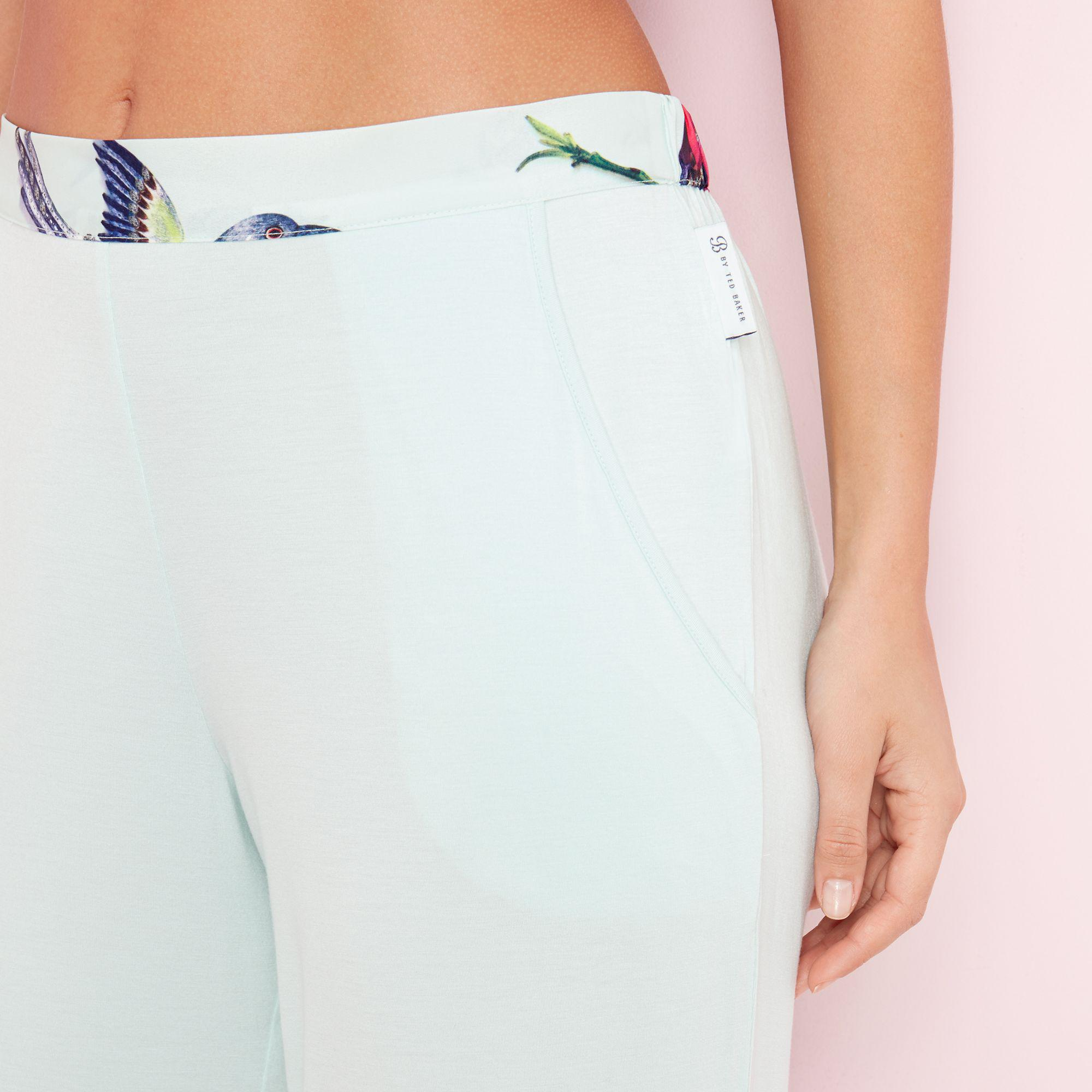 2e54ee938 Ted Baker Green  flight Of The Orient  Plain Pyjama Bottoms in Green ...