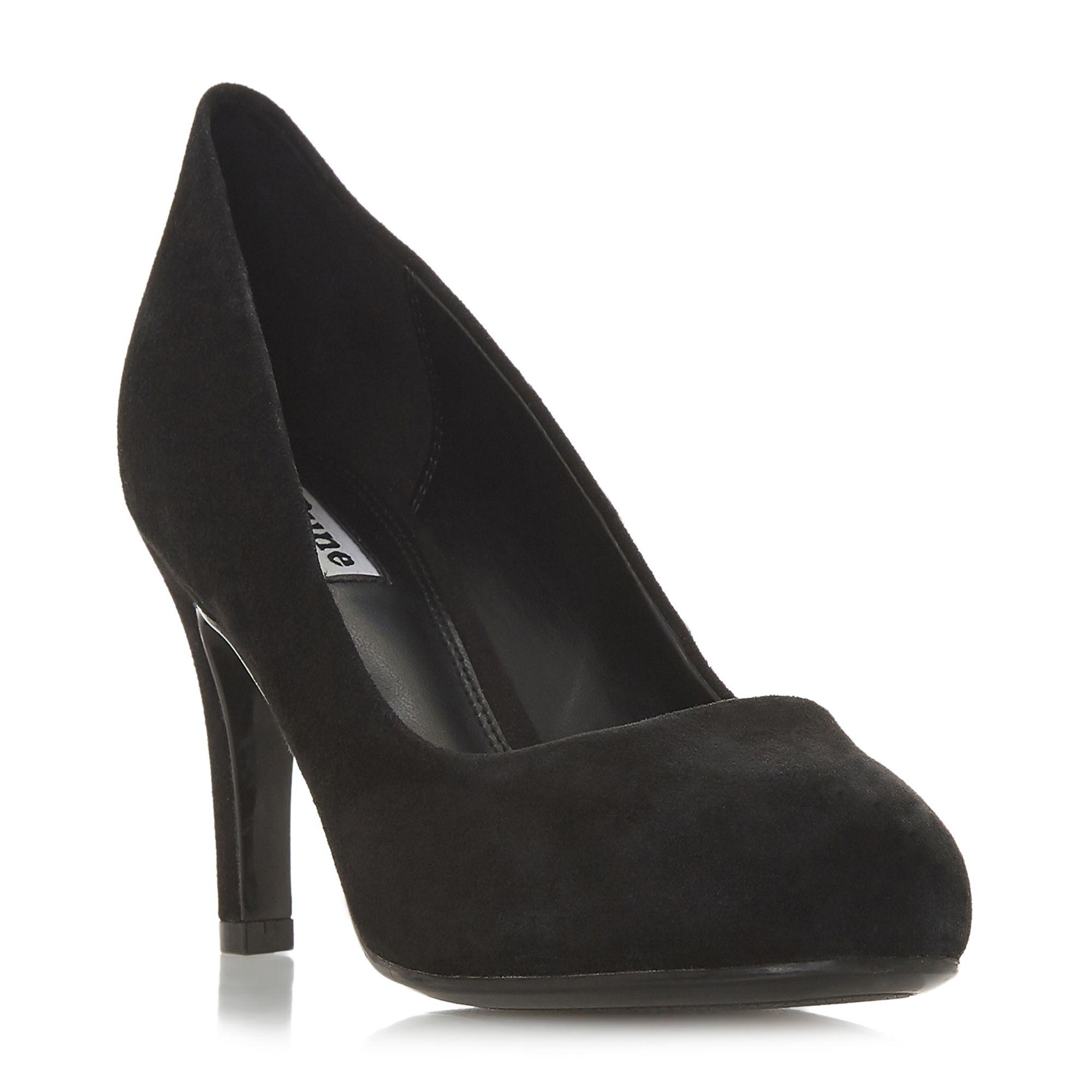 c90aa48ce0246a Dune Black Suede  amalei  Mid Stiletto Heel Court Shoes in Black - Lyst