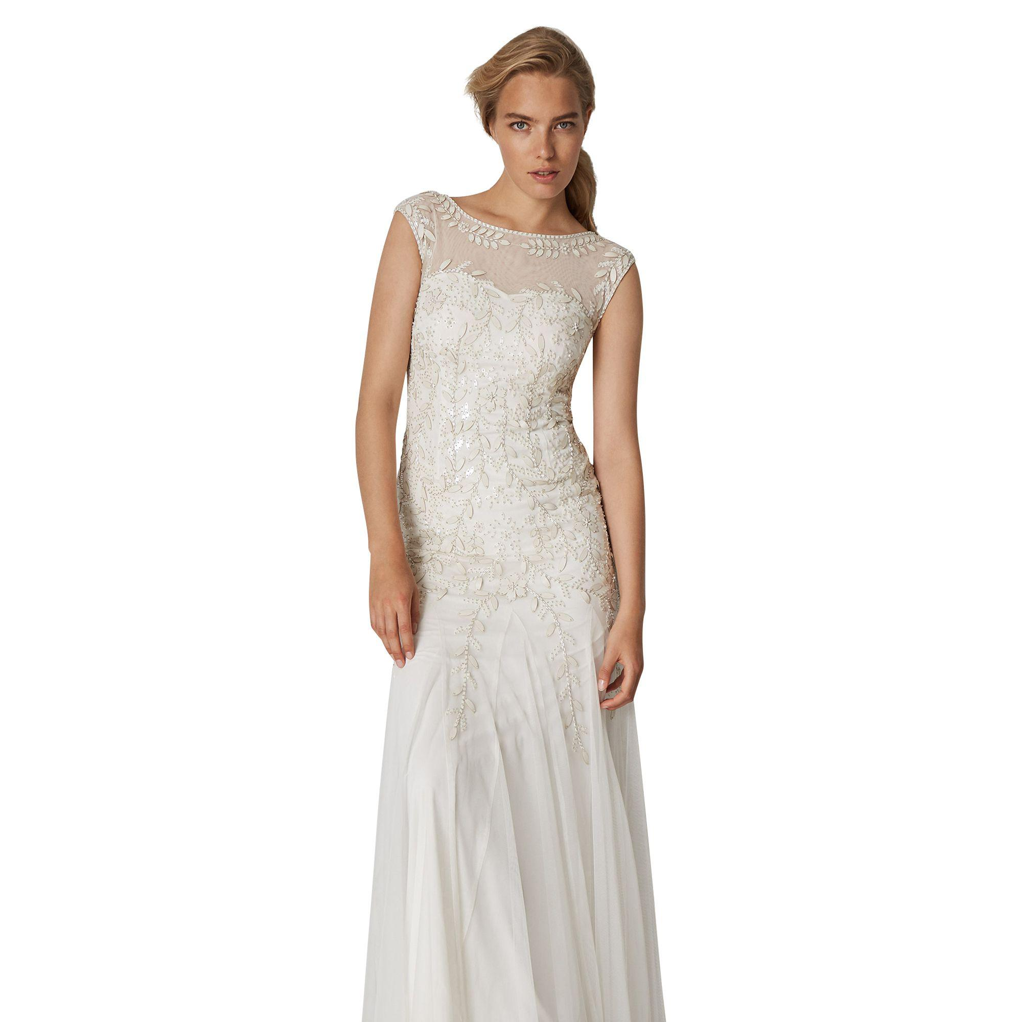 ed4f4a6342b8c Phase Eight Natural Sabina Embellished Bridal Dress in Natural - Lyst