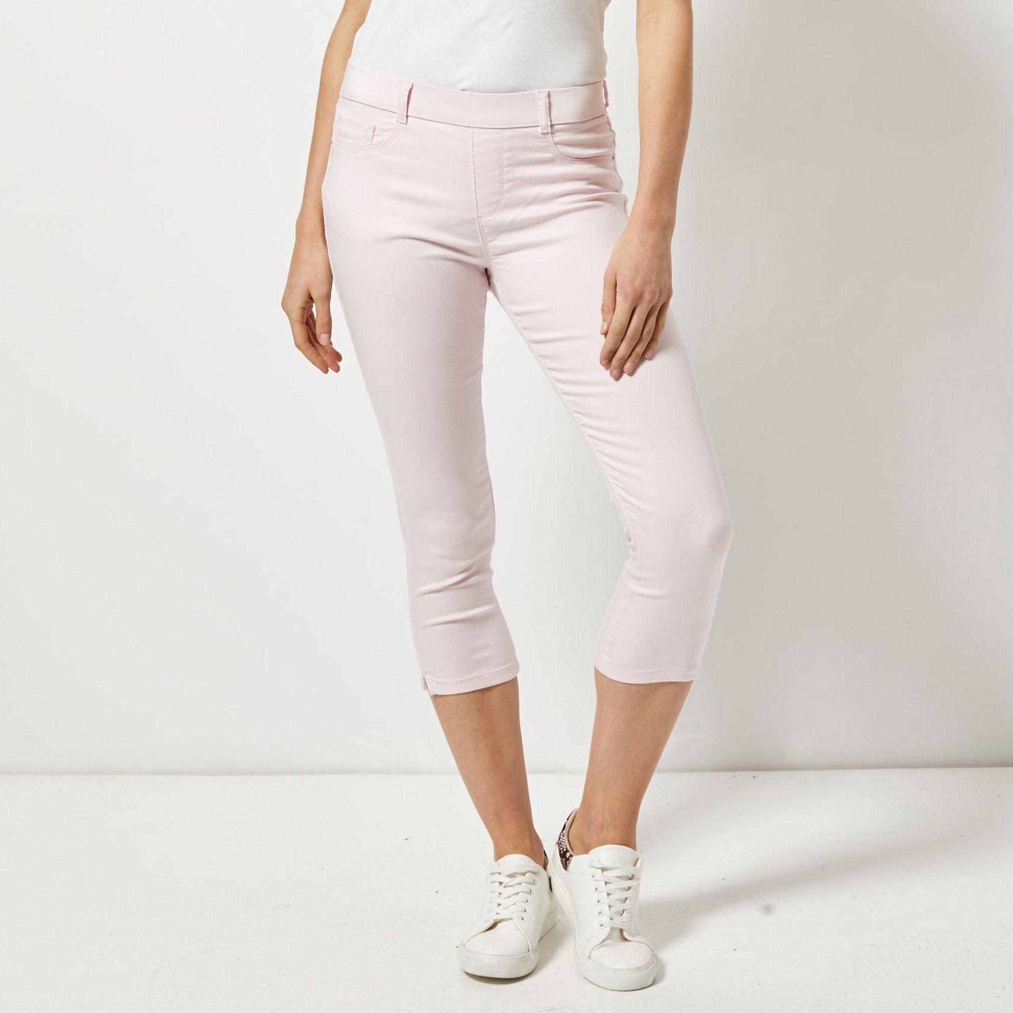 69bfe124d10ba Dorothy Perkins Pale Pink Eden Super Soft Cropped Jeggings in Pink ...