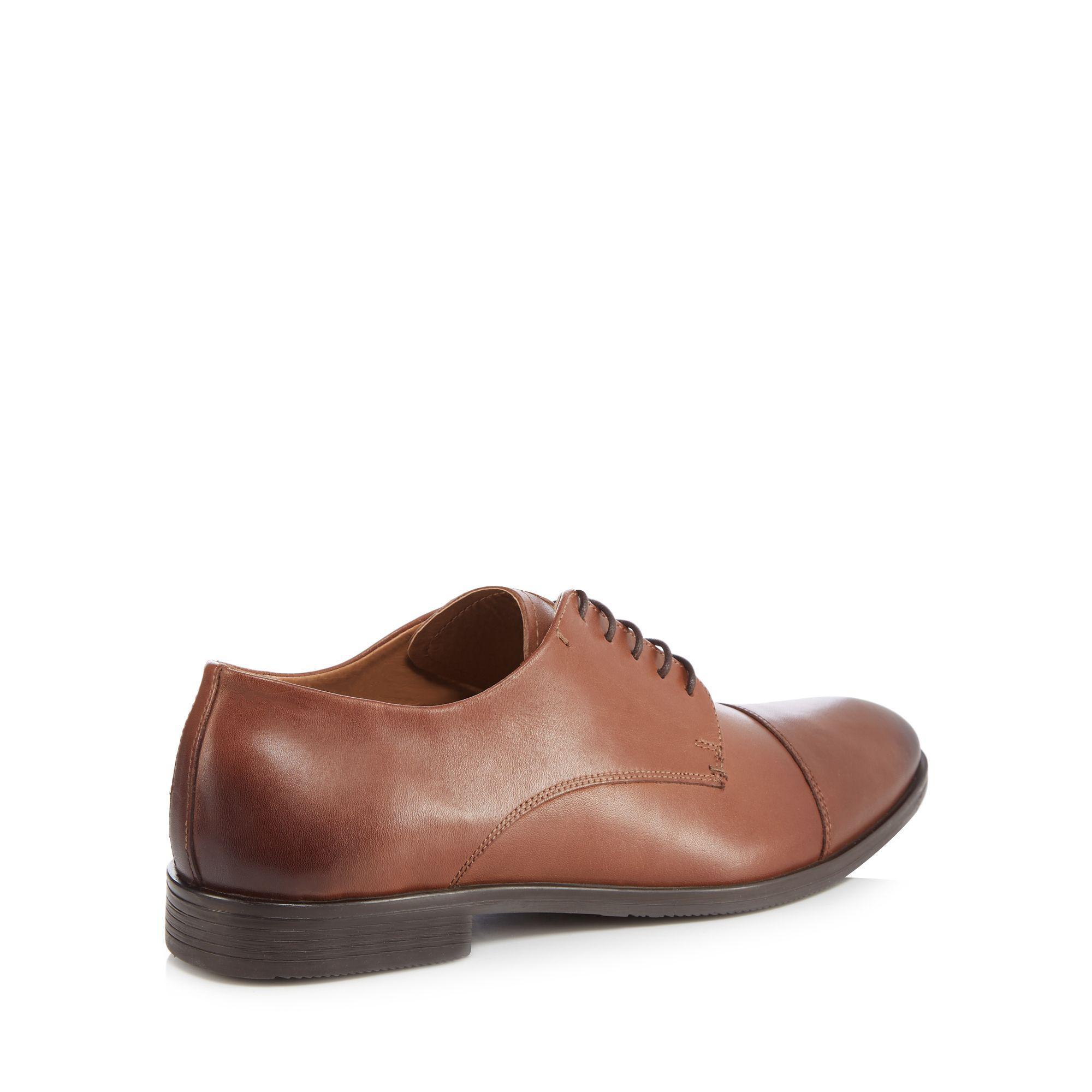 sale best place Dark tan leather 'Noah' Derby shoes clearance official site n6Kr0kn02