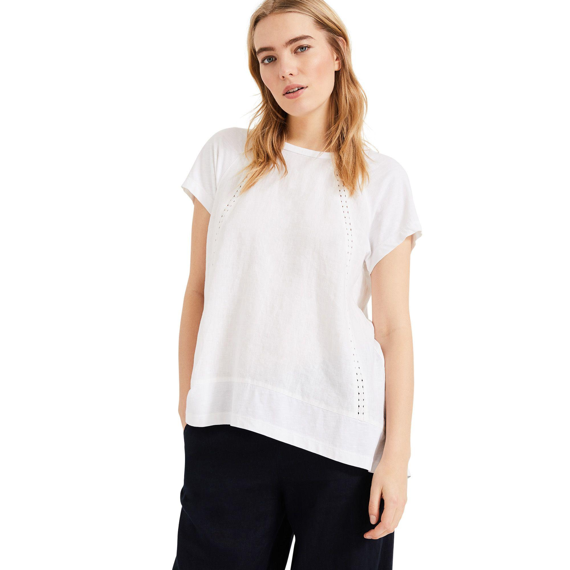 00ec9618f763b6 Phase Eight Melody Linen Blouse in White - Lyst