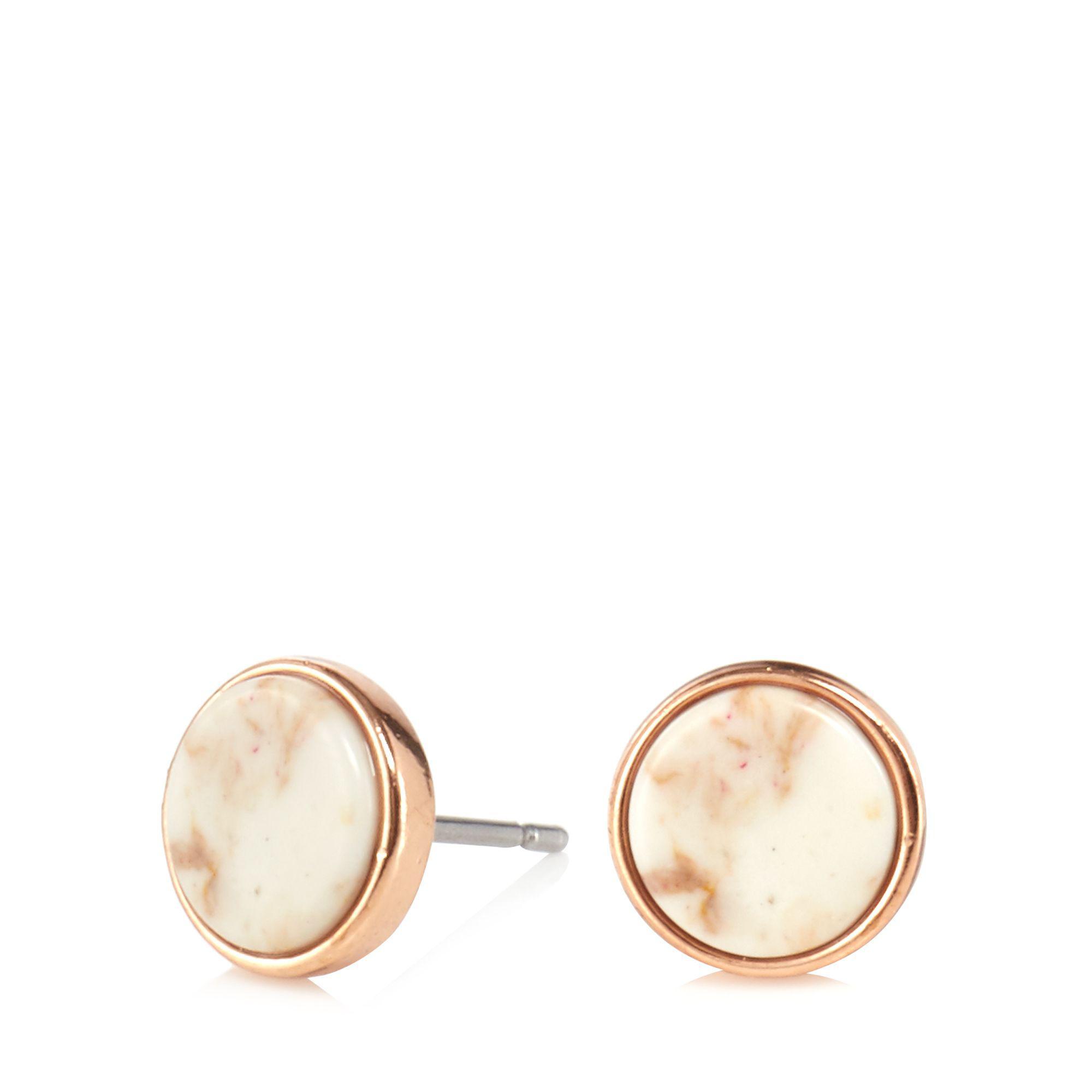 1995dd753 Pilgrim Nude 'mina' Rostone Stud Earrings in Natural - Lyst