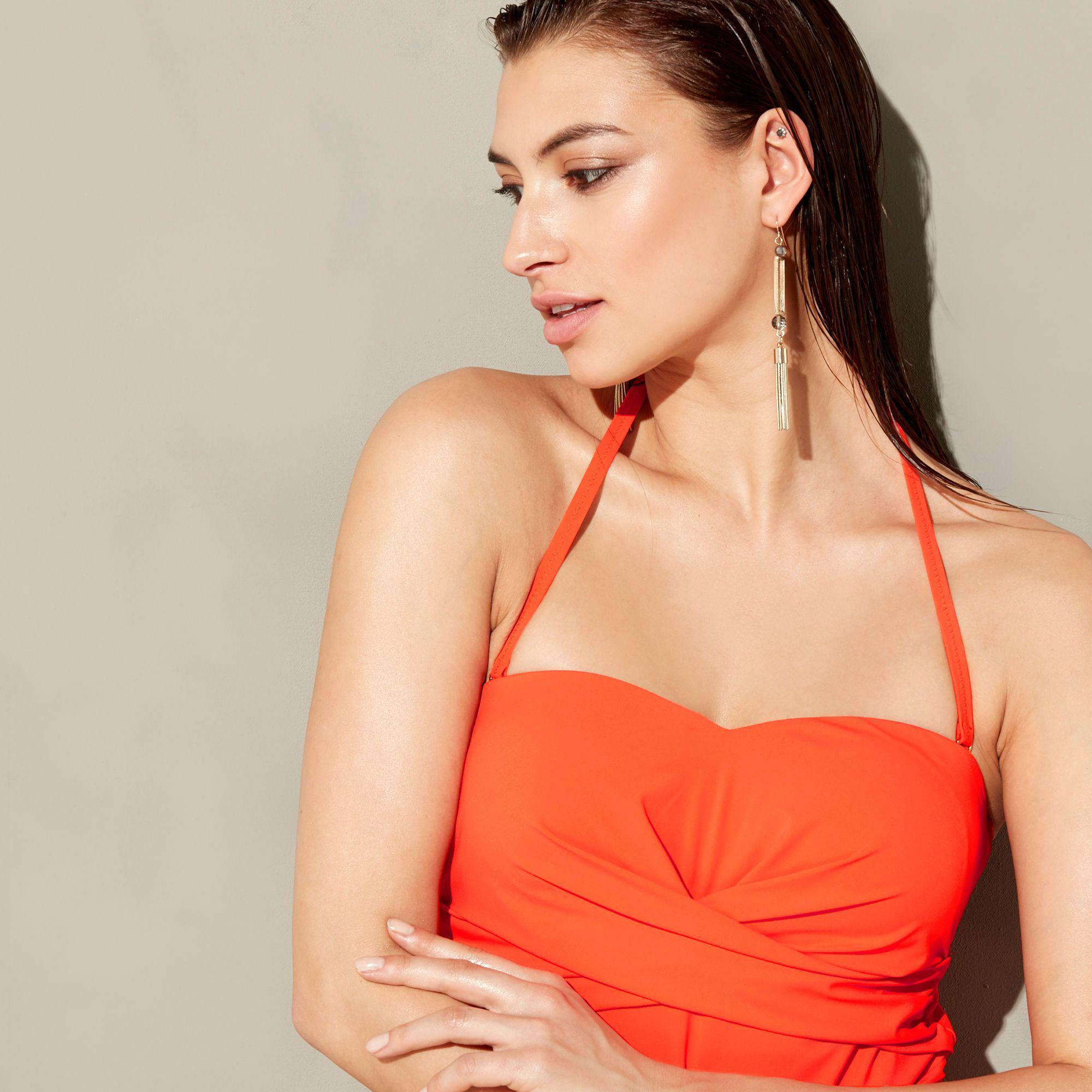 60e157b96dfcc J By Jasper Conran - Orange Twist Bandeau Swimsuit - Lyst. View fullscreen