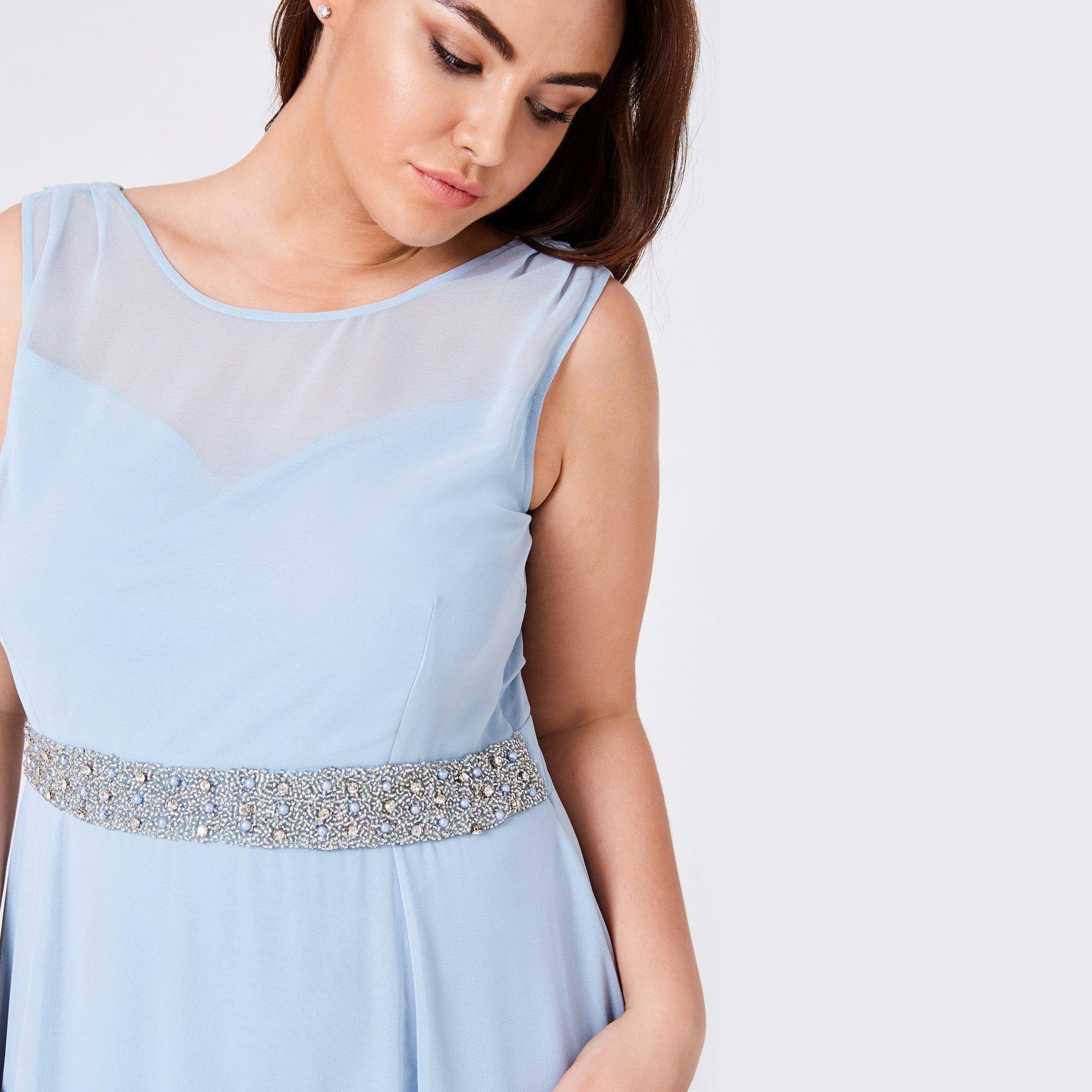 c9c187f5 Little Mistress - Blue Nadine Blue Hand-embellished Sequin Cowl Back Maxi  Dress - Lyst. View fullscreen