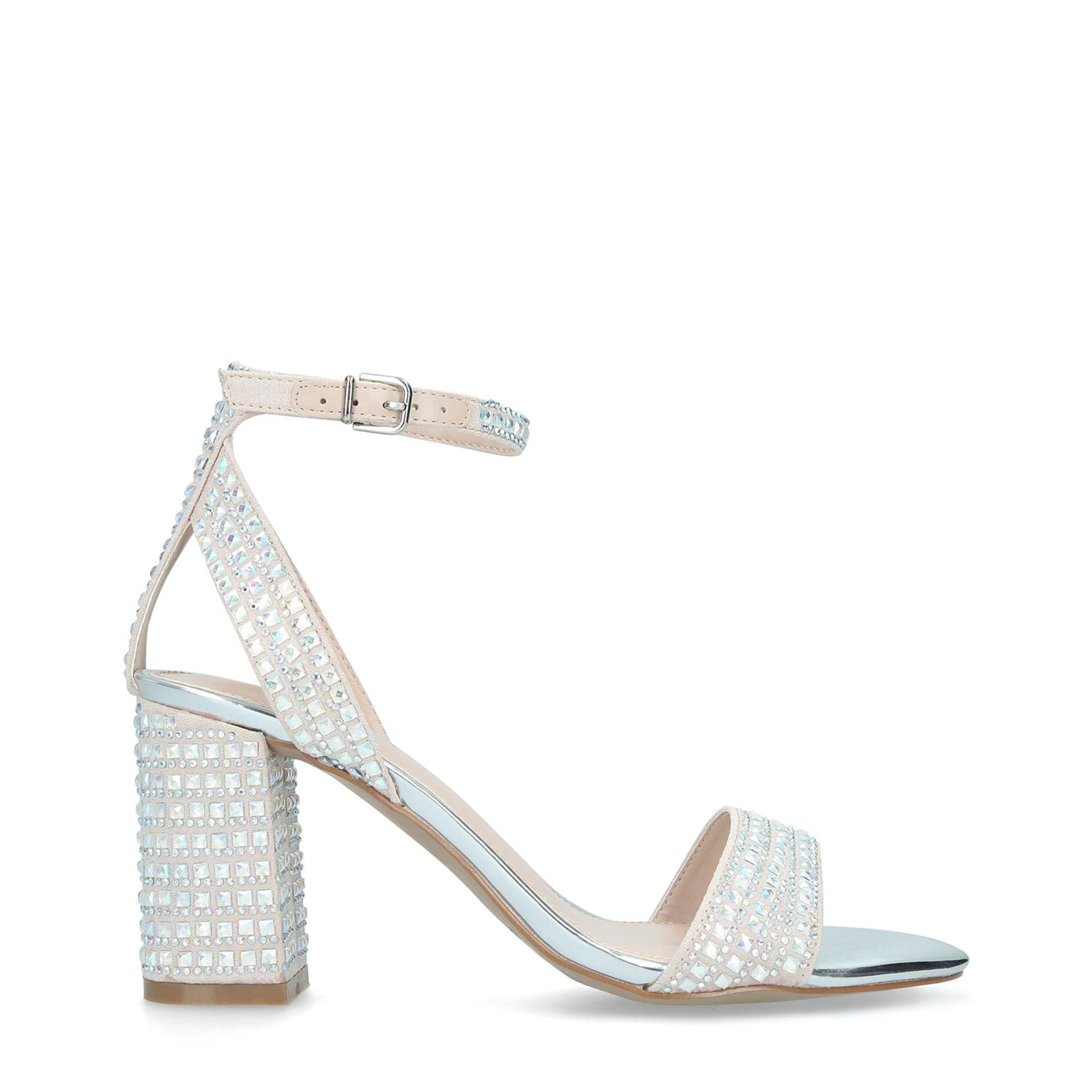 9542b765189 Carvela Kurt Geiger Nude  kianni  High Heel Sandals in Natural - Lyst