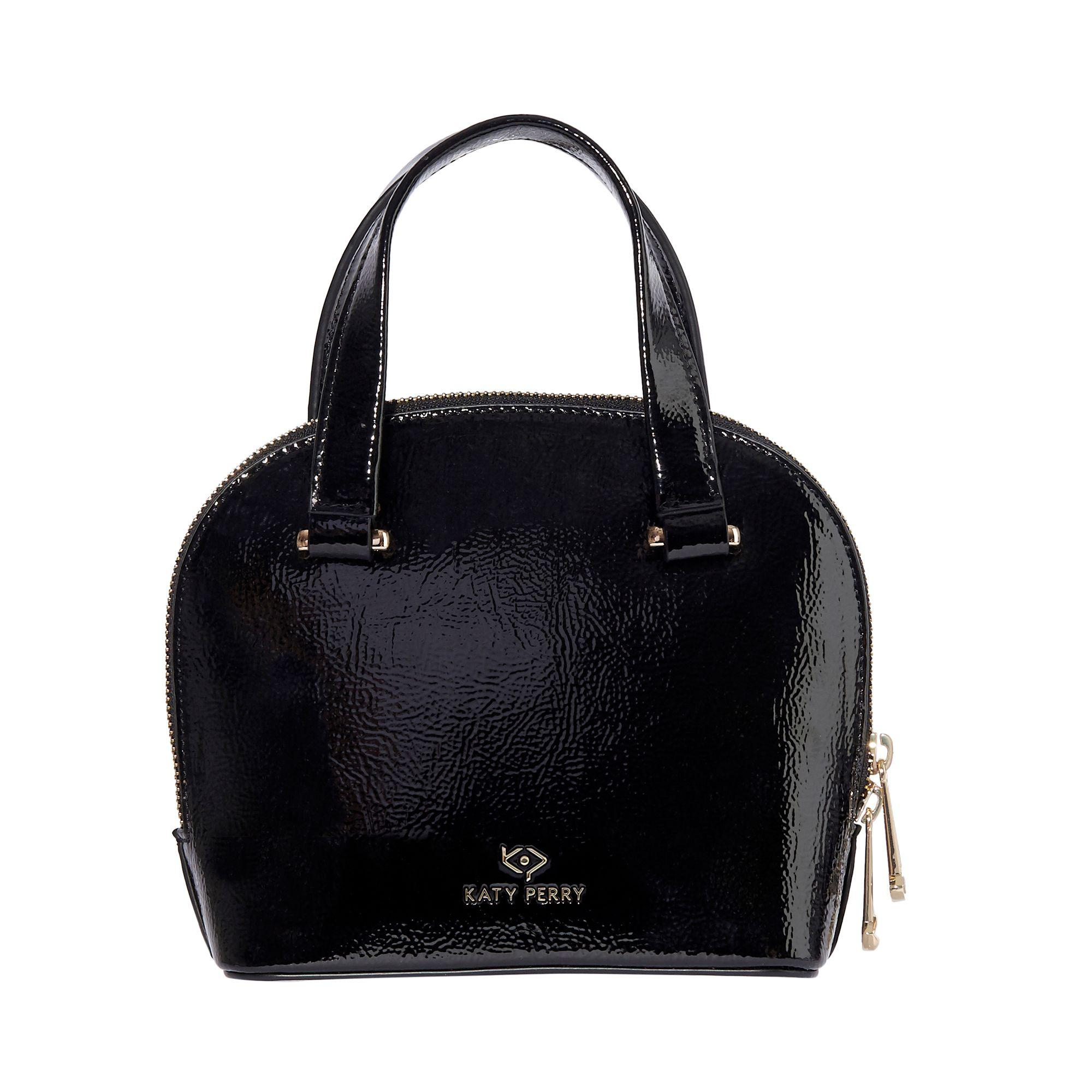 bced61c07 Katy Perry Black Patent Mini Moon Small Bowler Bag In Lyst