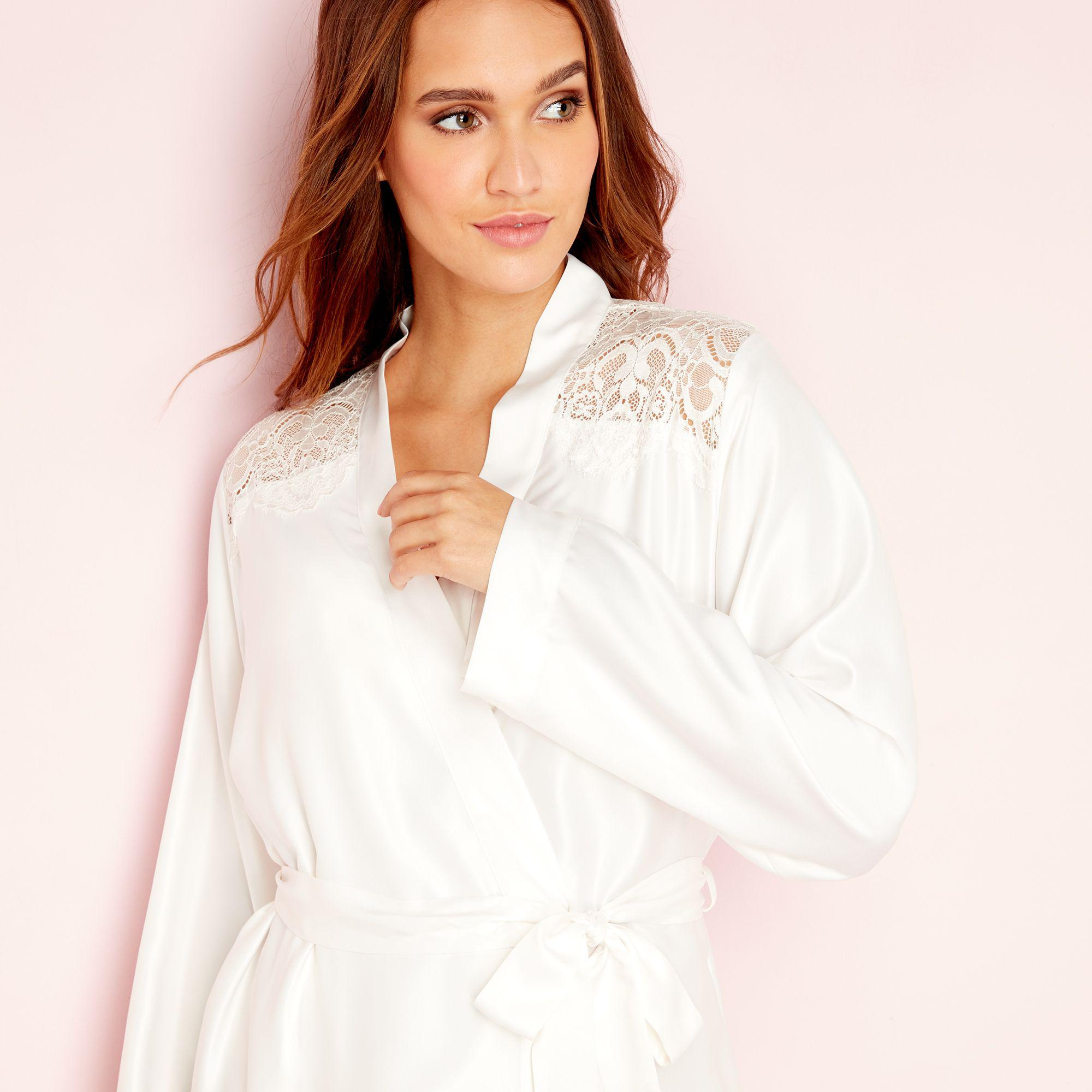 d6934fe10b670d Ted Baker Ivory Tie The Knot Lace Kimono In White Lyst