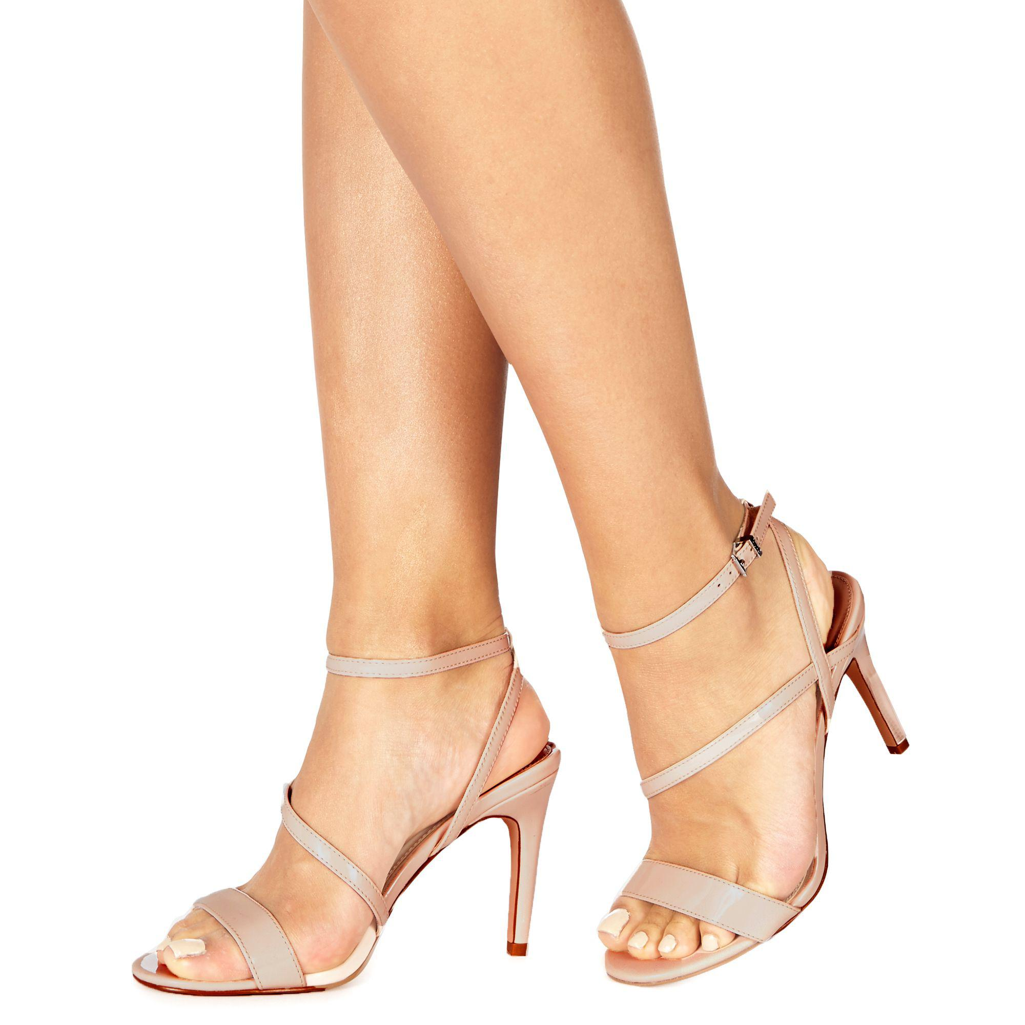1997ae1acb4 Faith. Women s Natural  delly  High Heel Wide Fit Ankle Strap Sandals
