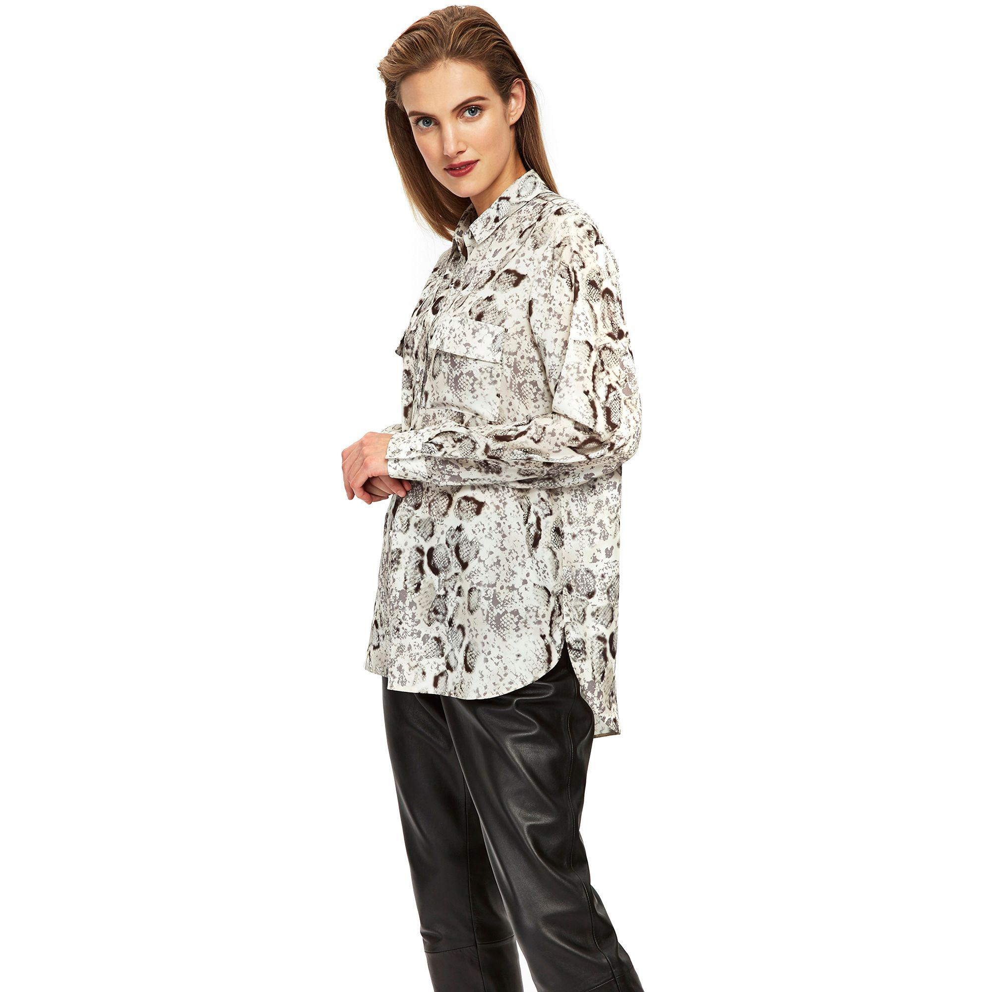 bb171551930dc Wallis - Gray Snake Print Shirt - Lyst. View fullscreen