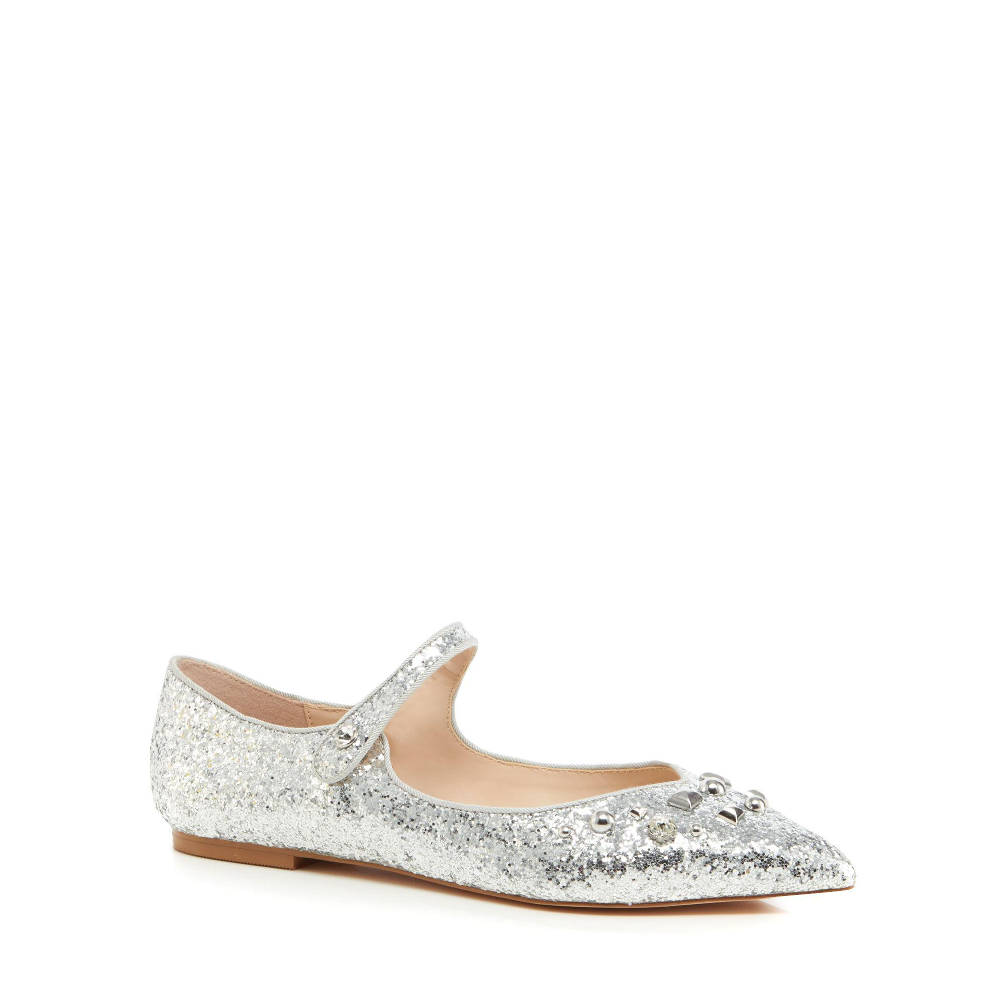 0941b7a31e Glitter Metallic Lyst Faith Shoes  abi  Silver In Pointed eD29EWYHI