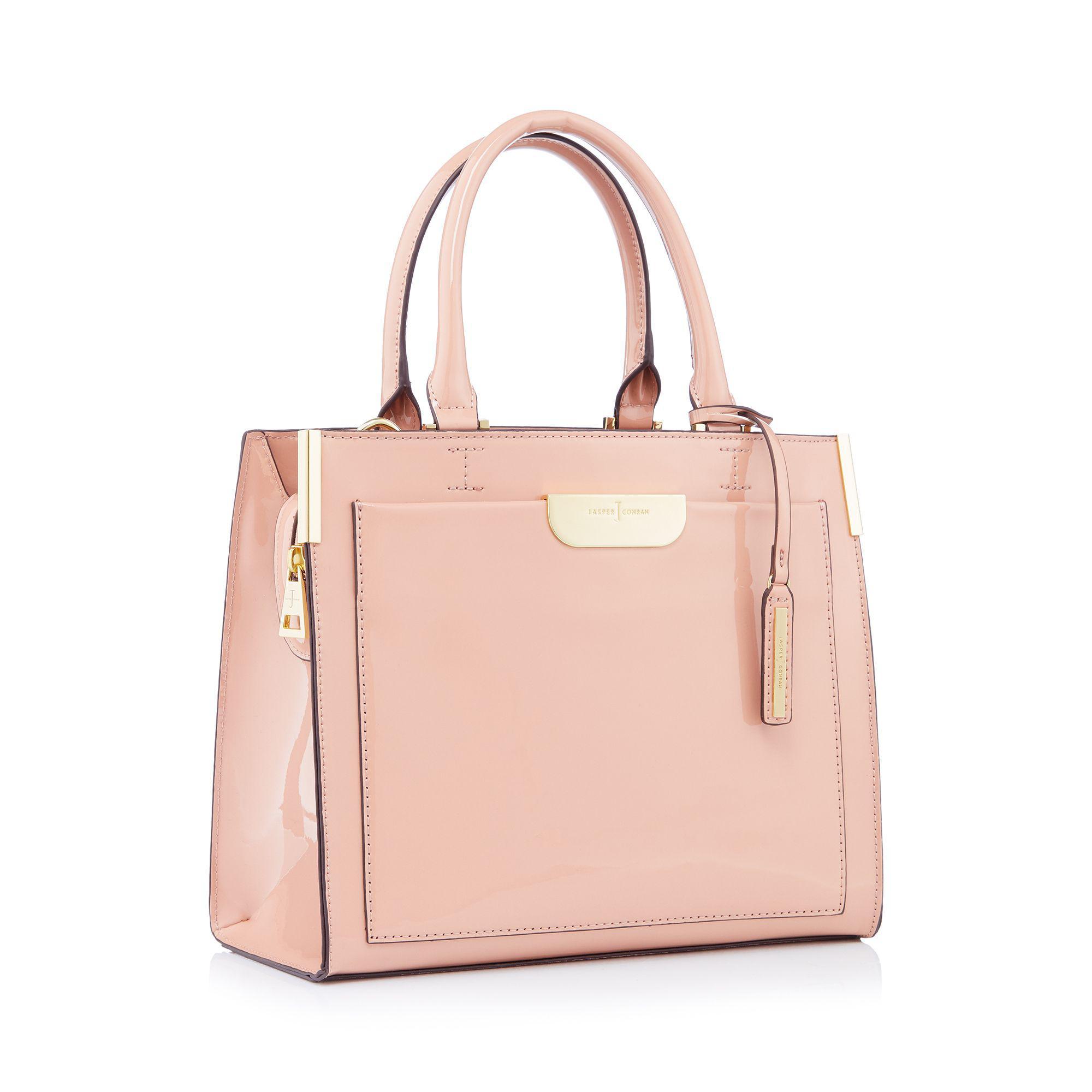 fd8cfd33e38a J By Jasper Conran Light Pink Large Patent  barnes  Grab Bag in Pink ...