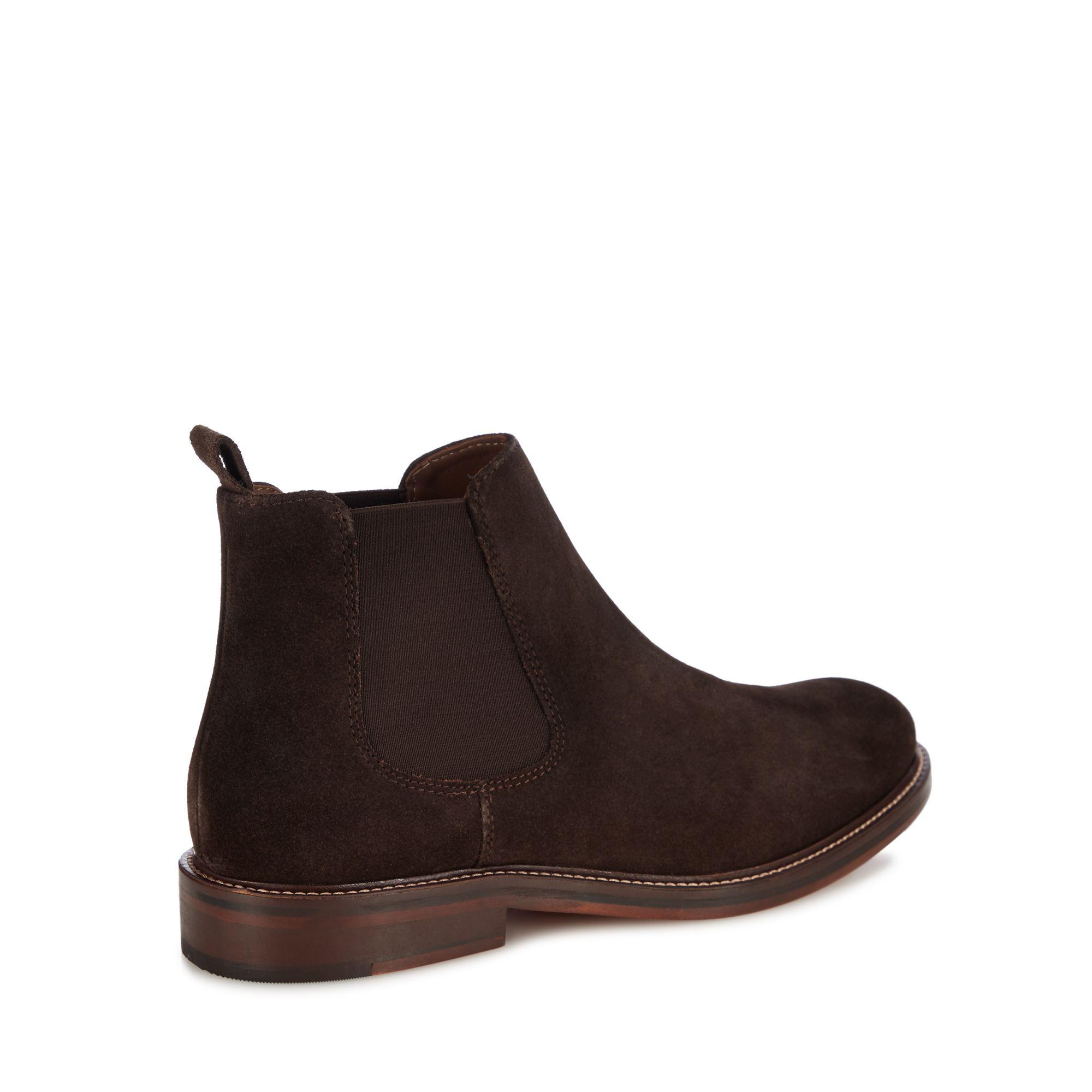 43bd6c069f3 J By Jasper Conran - Chocolate Brown Suede  parma  Chelsea Boots for Men -.  View fullscreen