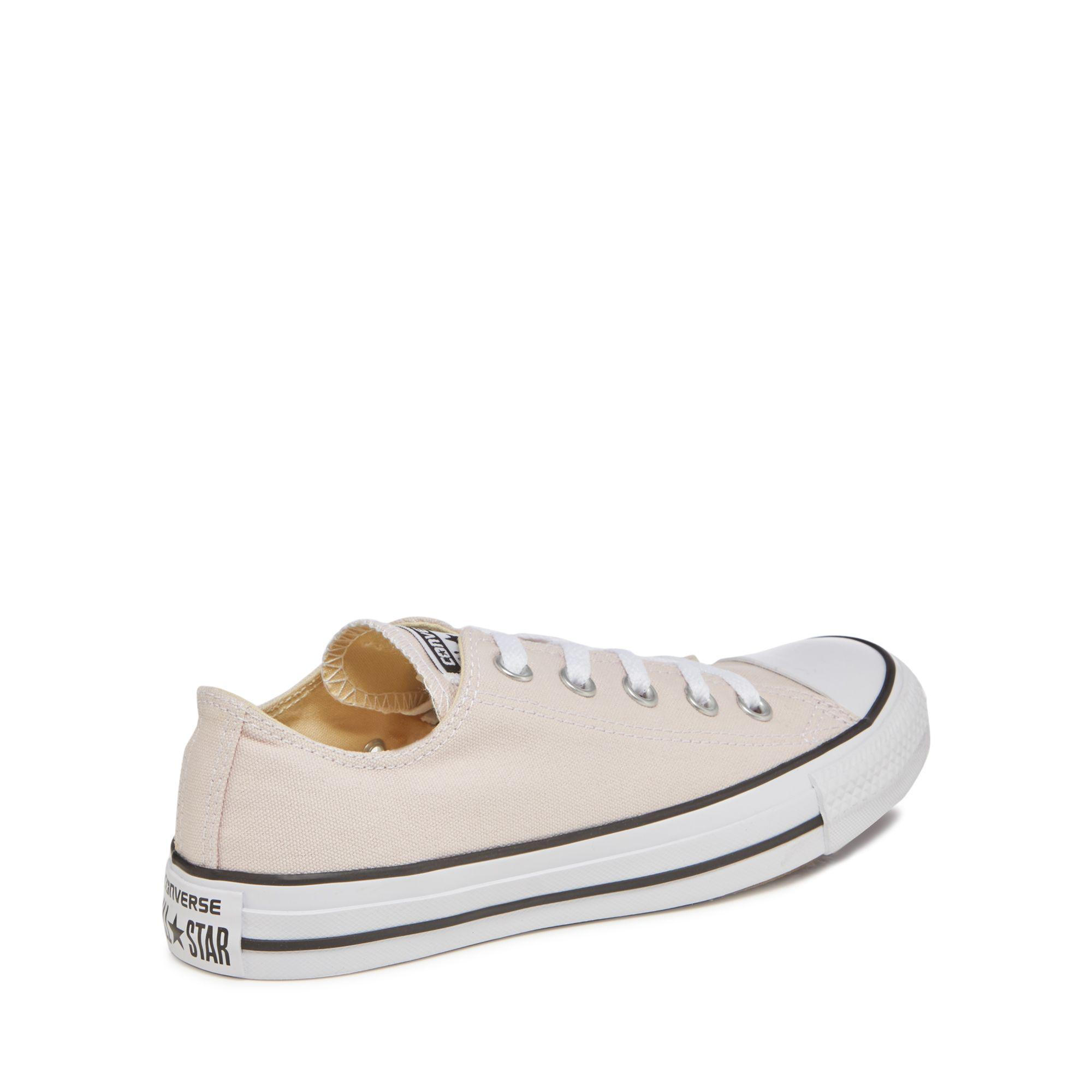 866015742a33 Converse - Light Pink Canvas  all Star Ox  Trainers - Lyst. View fullscreen