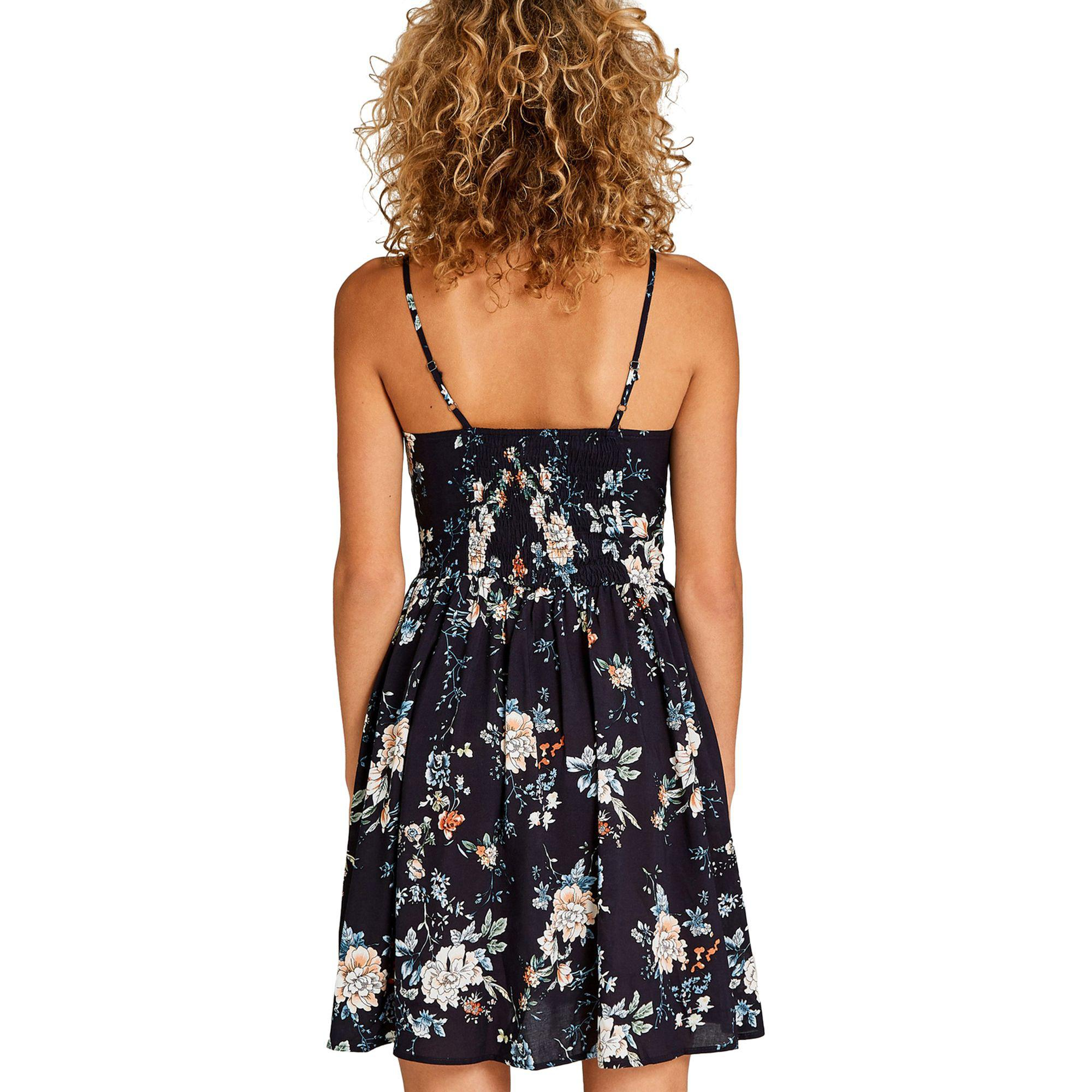 Apricot Navy Floral Print Babydoll Dress in Blue - Lyst fef13af64