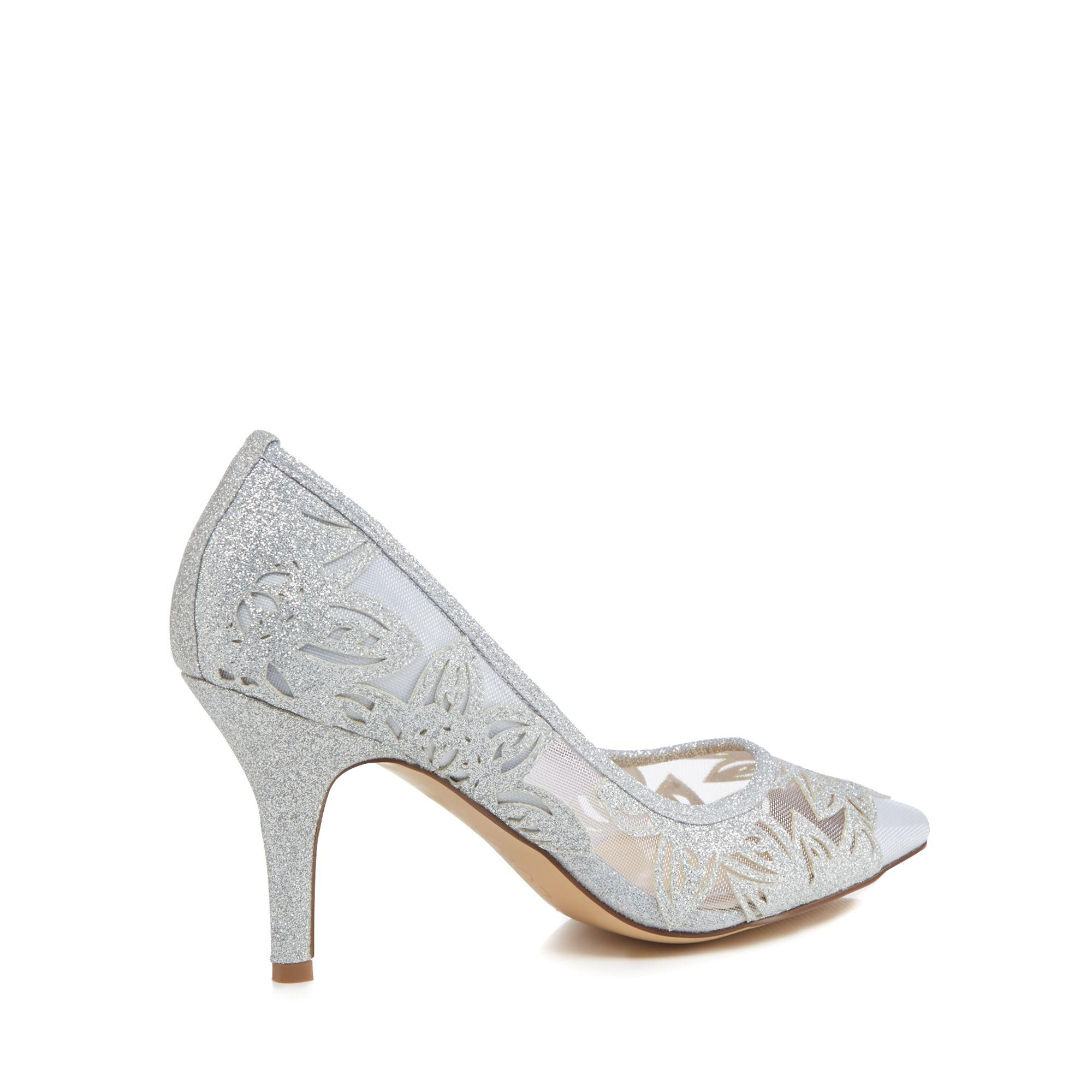 621e2f6643 Tap to visit site. Lotus - Metallic Silver Glitter 'arlind' High Stiletto  Heel Pointed Shoes - Lyst
