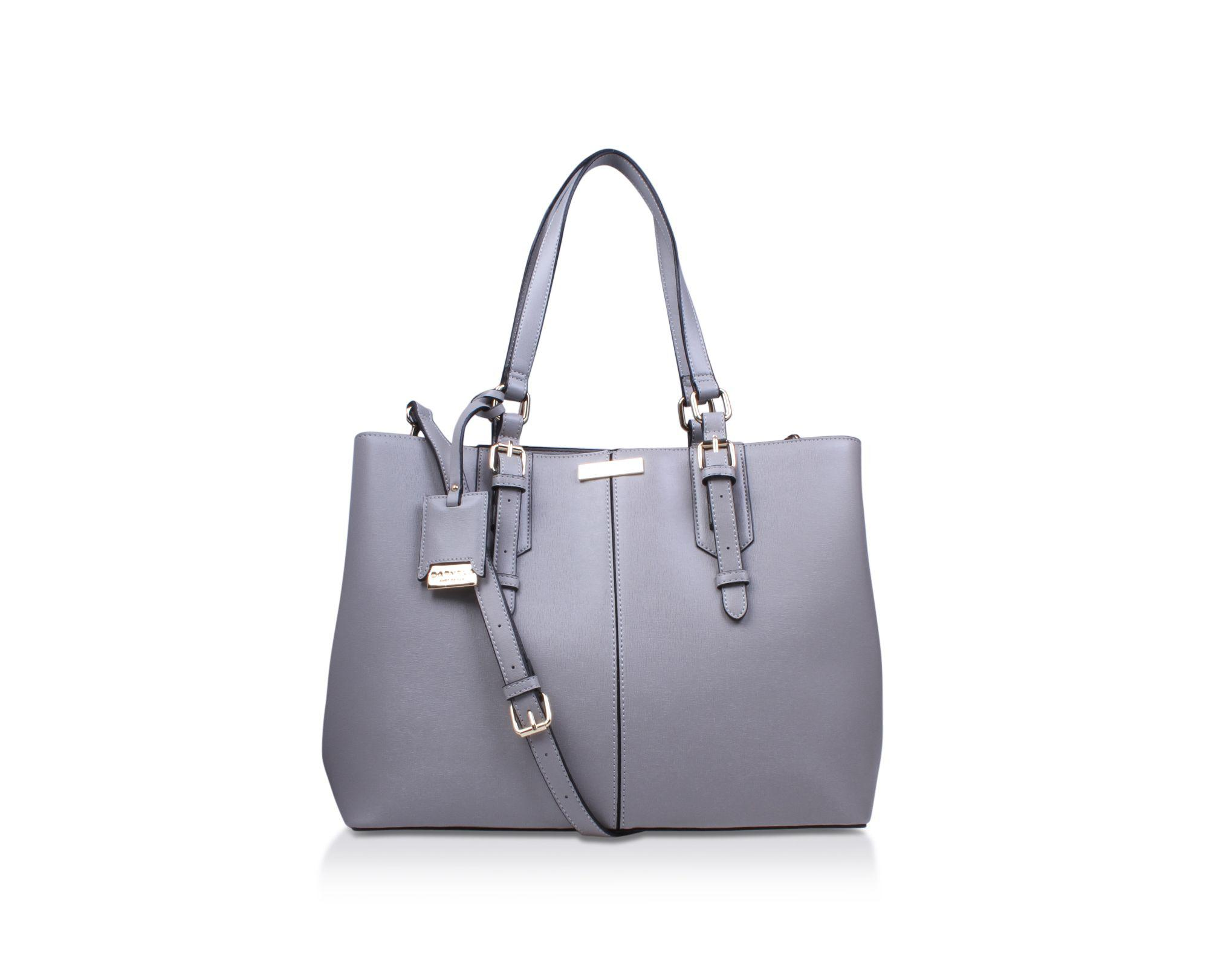 6a7843303a7a Carvela Kurt Geiger Grey  ortha2 Slouch Tote  Tote Bag in Gray - Lyst