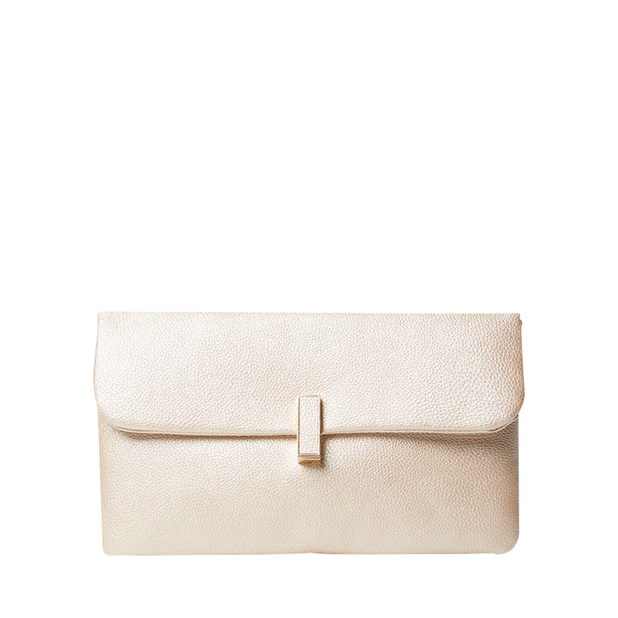 dd2a275dd26 Dorothy Perkins Rose Gold Twistlock Clutch Bag in Metallic - Lyst