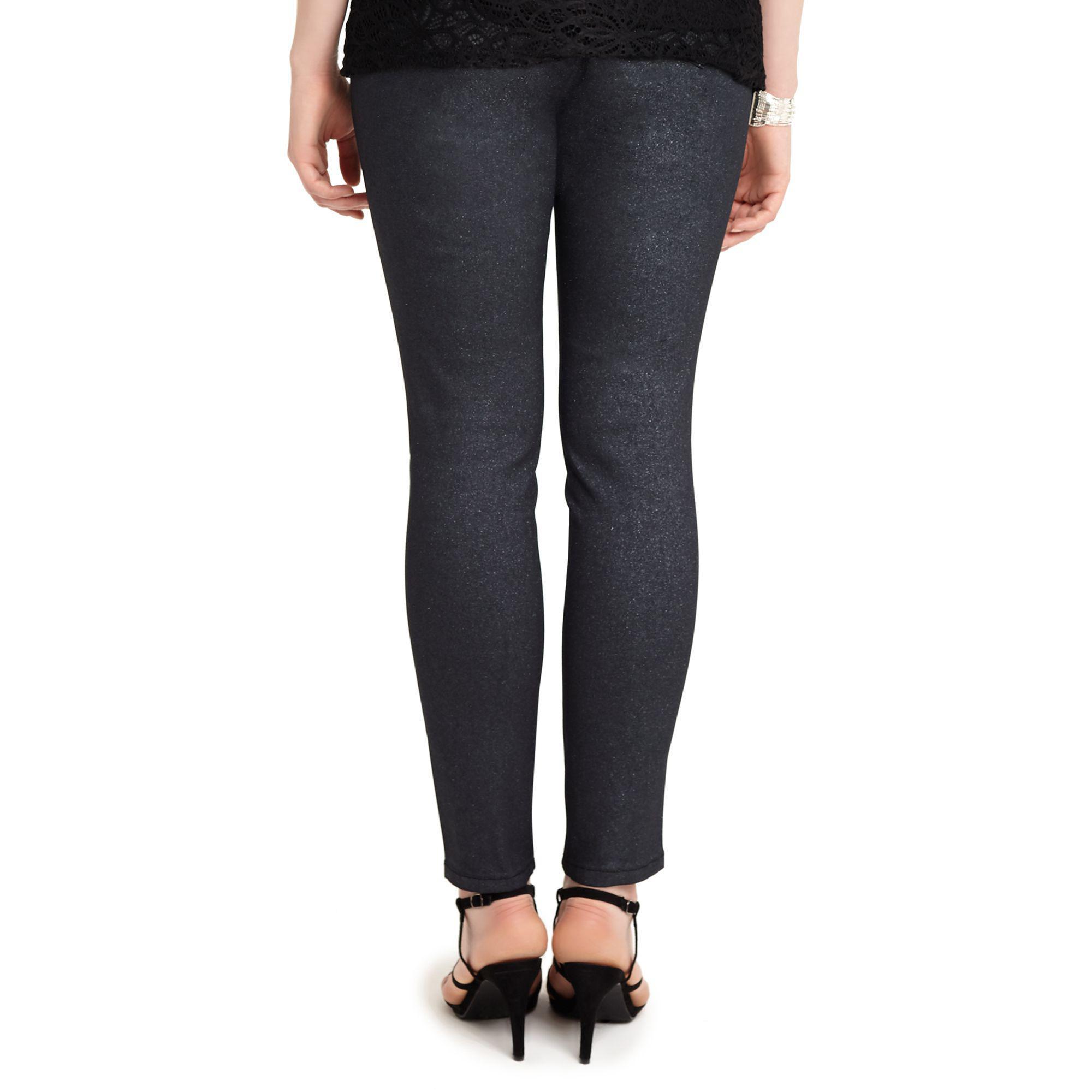 d441f724dfe2c Studio 8 - Sizes 12-26 Black Abbey Glitter Jeans - Lyst. View fullscreen