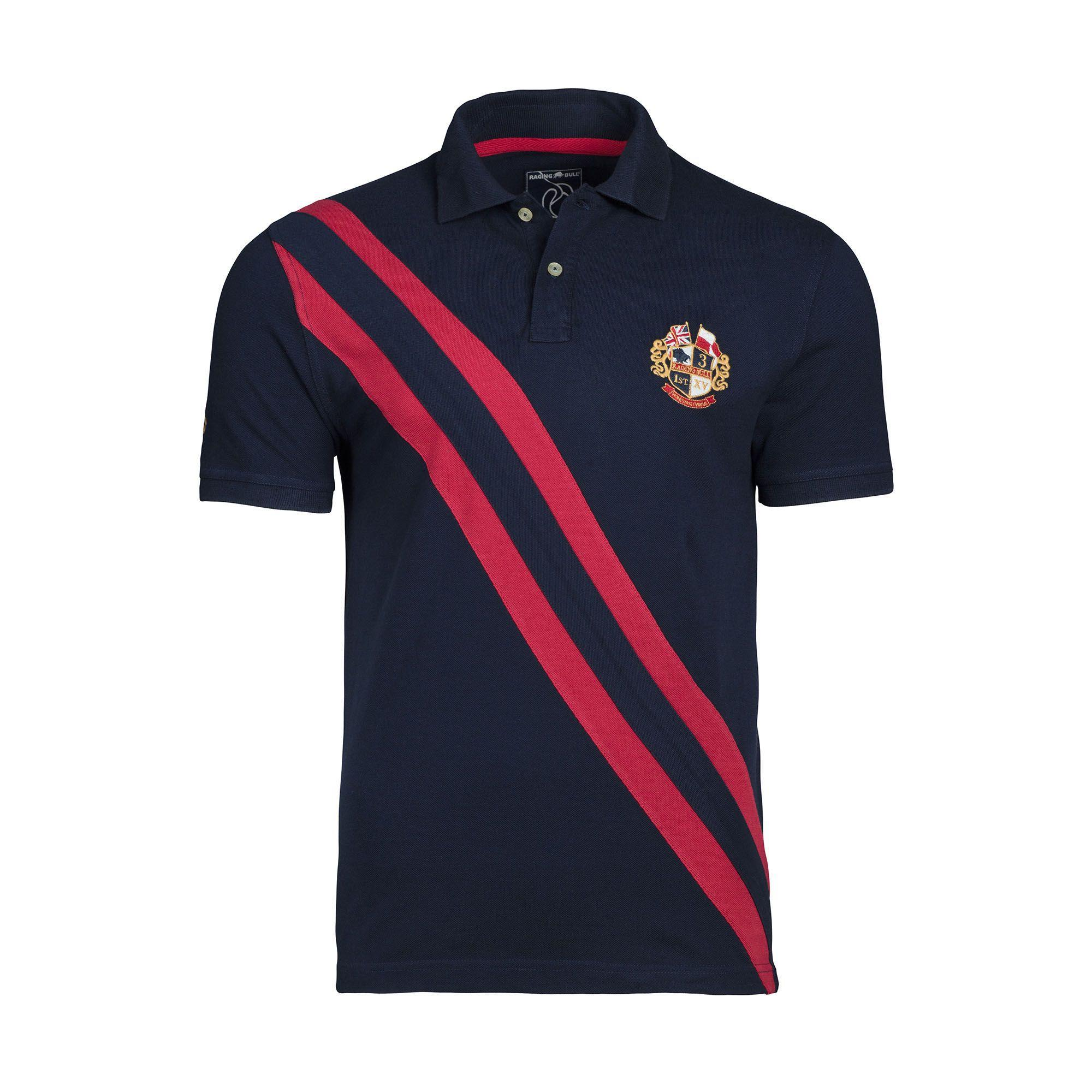 14af1542 Raging Bull - Blue Navy Heritage Pique Polo Shirt for Men - Lyst. View  fullscreen