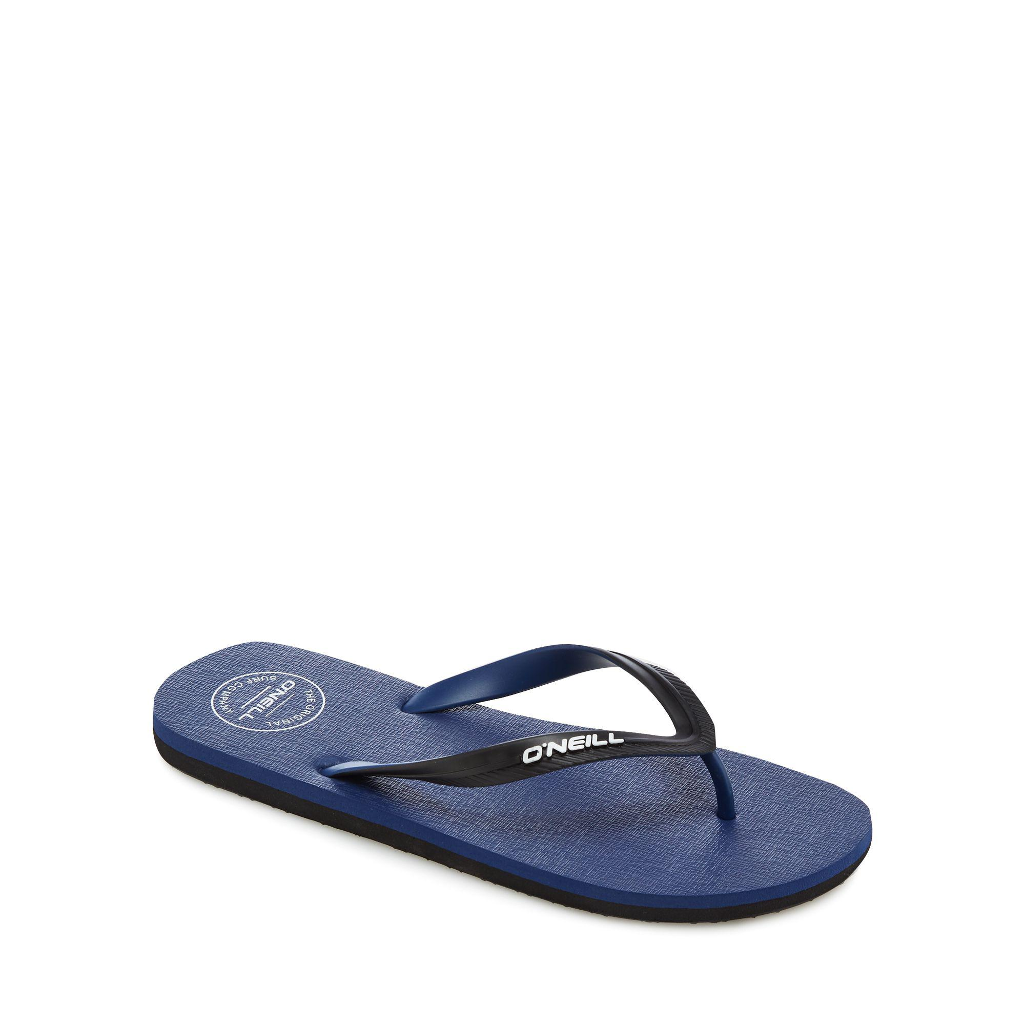 shop cheap price Navy 'Friction' logo strap flip flops buy cheap newest cheap real eastbay buy cheap comfortable D4NO7RF