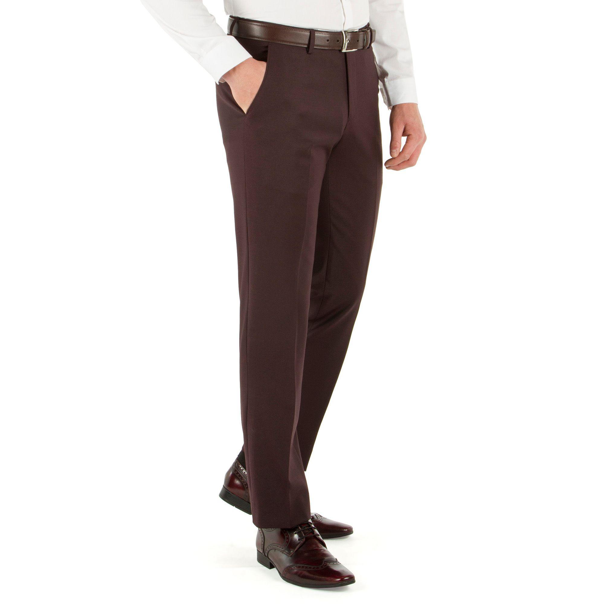 f717fc760d9d98 Red Herring Deep Plum Twill Slim Fit Trouser in Purple for Men - Lyst