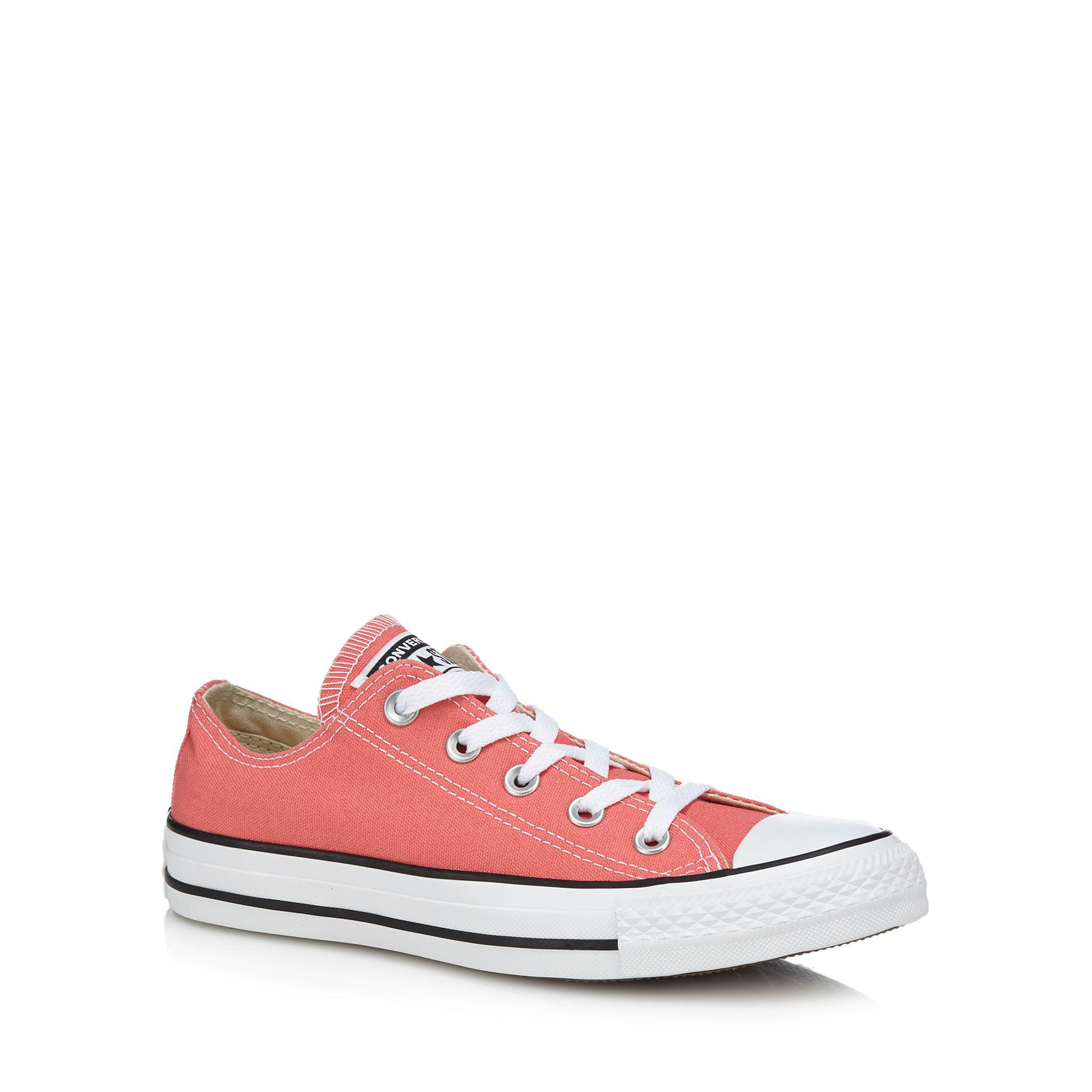 171e622d09c0 Converse Coral Canvas  chuck Taylor All Star  Trainers in Pink - Lyst